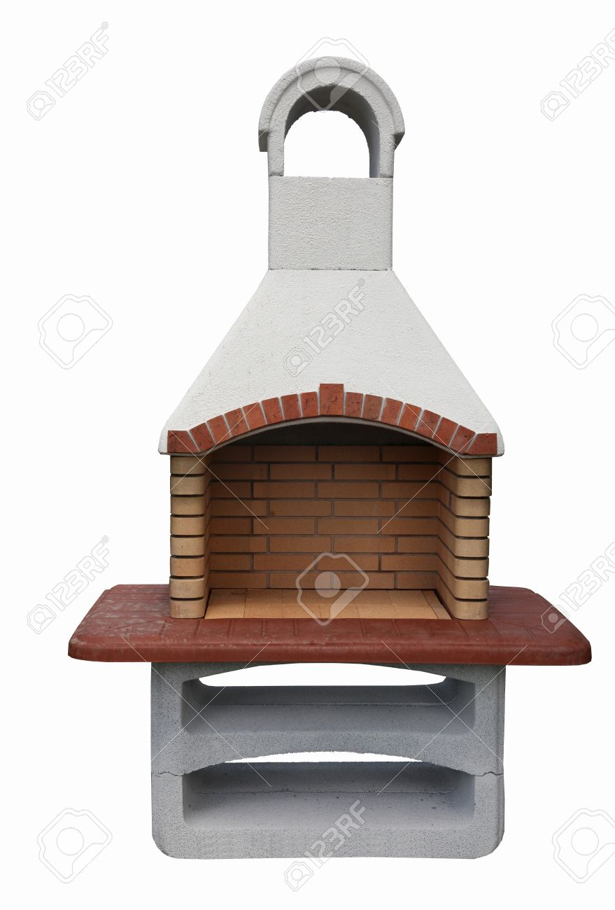 Einzigartig Offener Kamin Aussen Grill Aus Backsteinen Und Zement Lizenzfreie  AC33