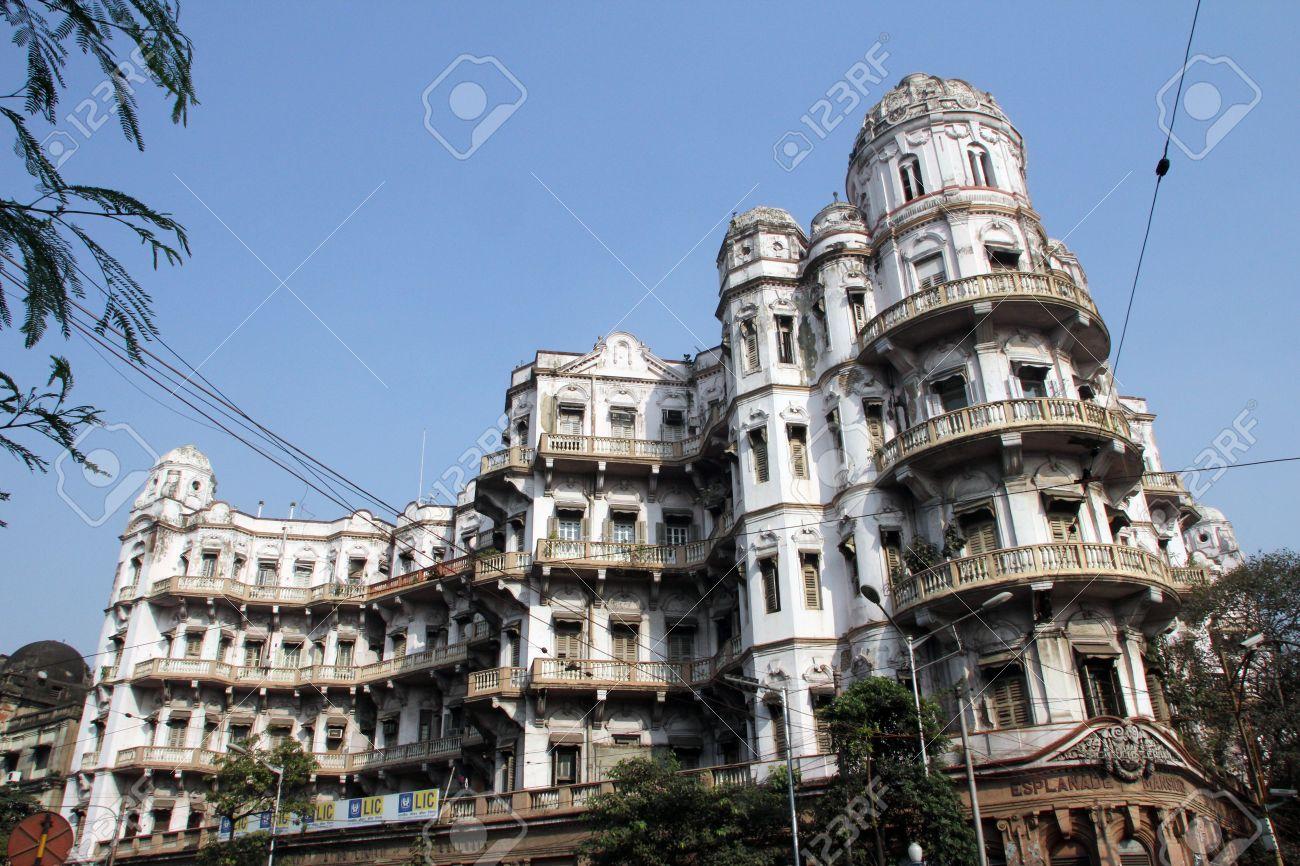 エスプラネード邸宅ときコルカタ 2012 年 11 月 25 日コルカタ、インド ...