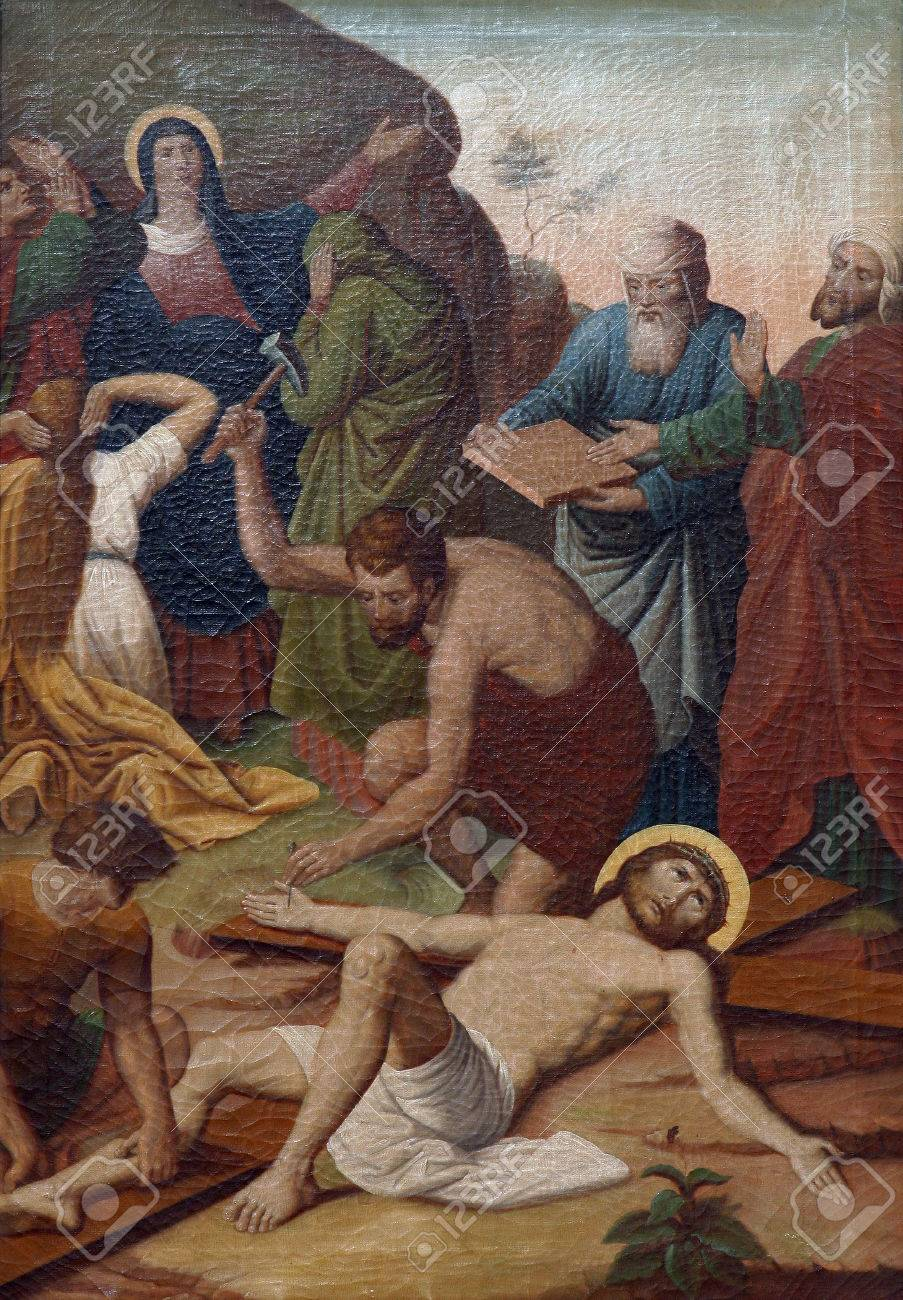 11th Stations Of The Cross, Crucifixion: Jesus Is Nailed To The ...
