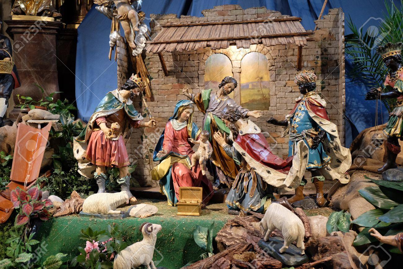 Escena De La Natividad, Guardería, O El Pesebre, El Nacimiento De ...