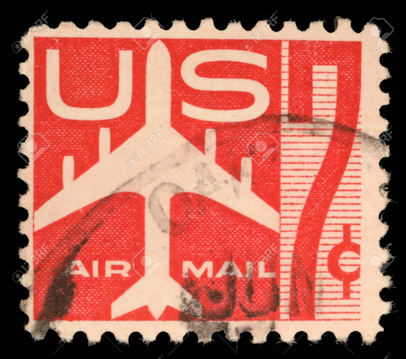 United States Postage Stamp In The Value Of 7c Used For Overseas