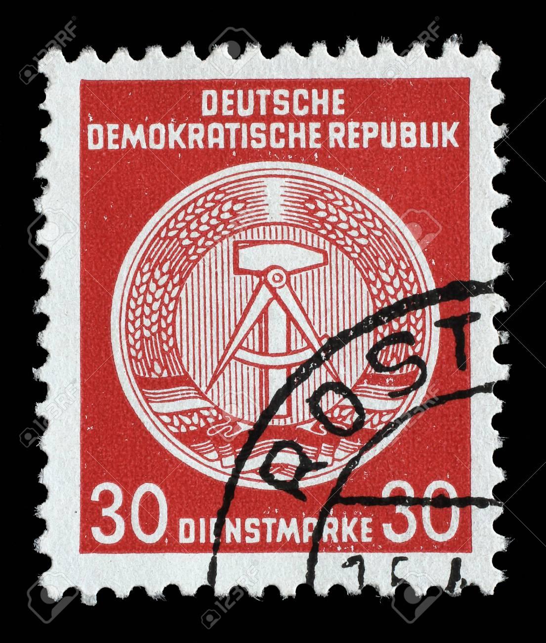 スタンプが印刷: GDR ドイツ民主...