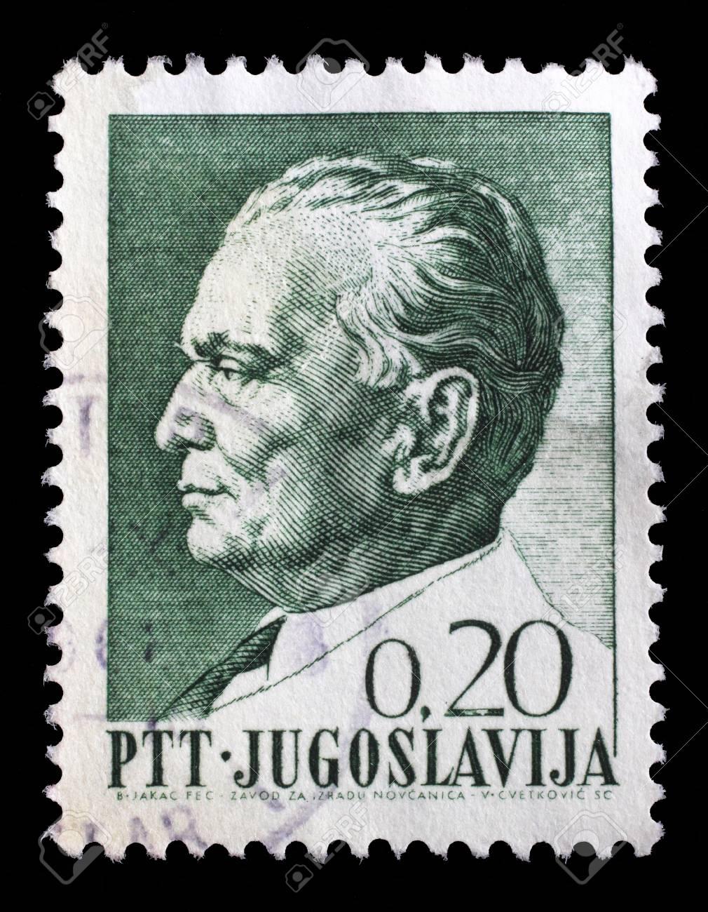 ユーゴスラビアで印刷スタンプ ...