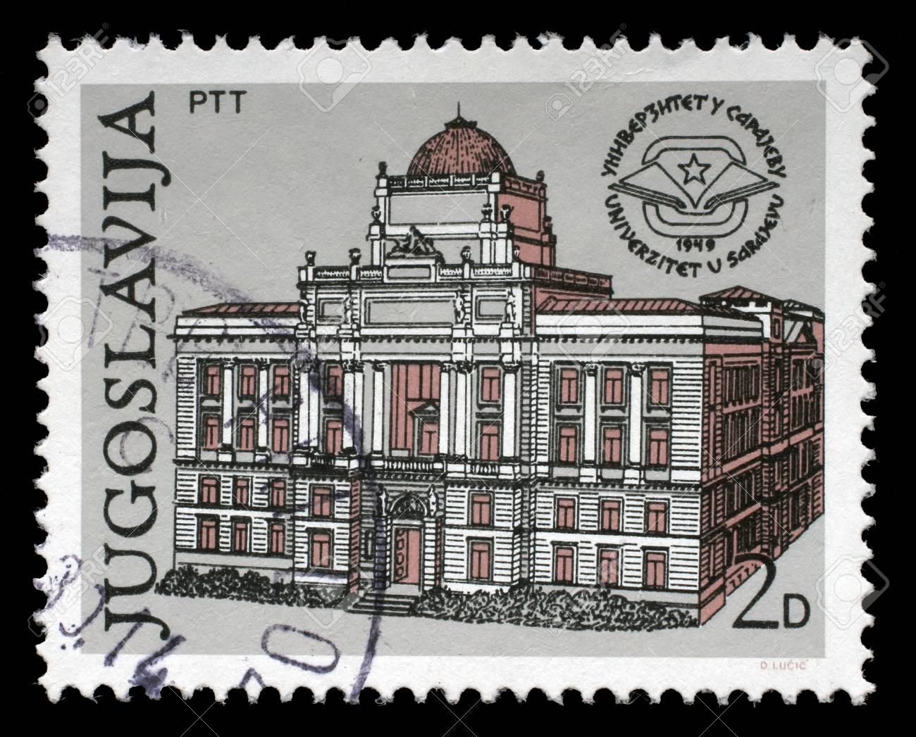 Stempel Gedrukt In Joegoslavie Toont De 30e Verjaardag Van De