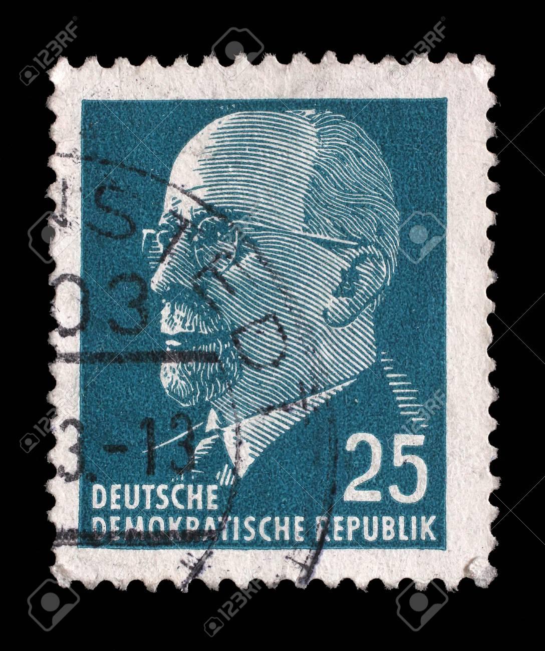 スタンプが印刷: ドイツ民主共和国 - 東ドイツを示します委員長 ...