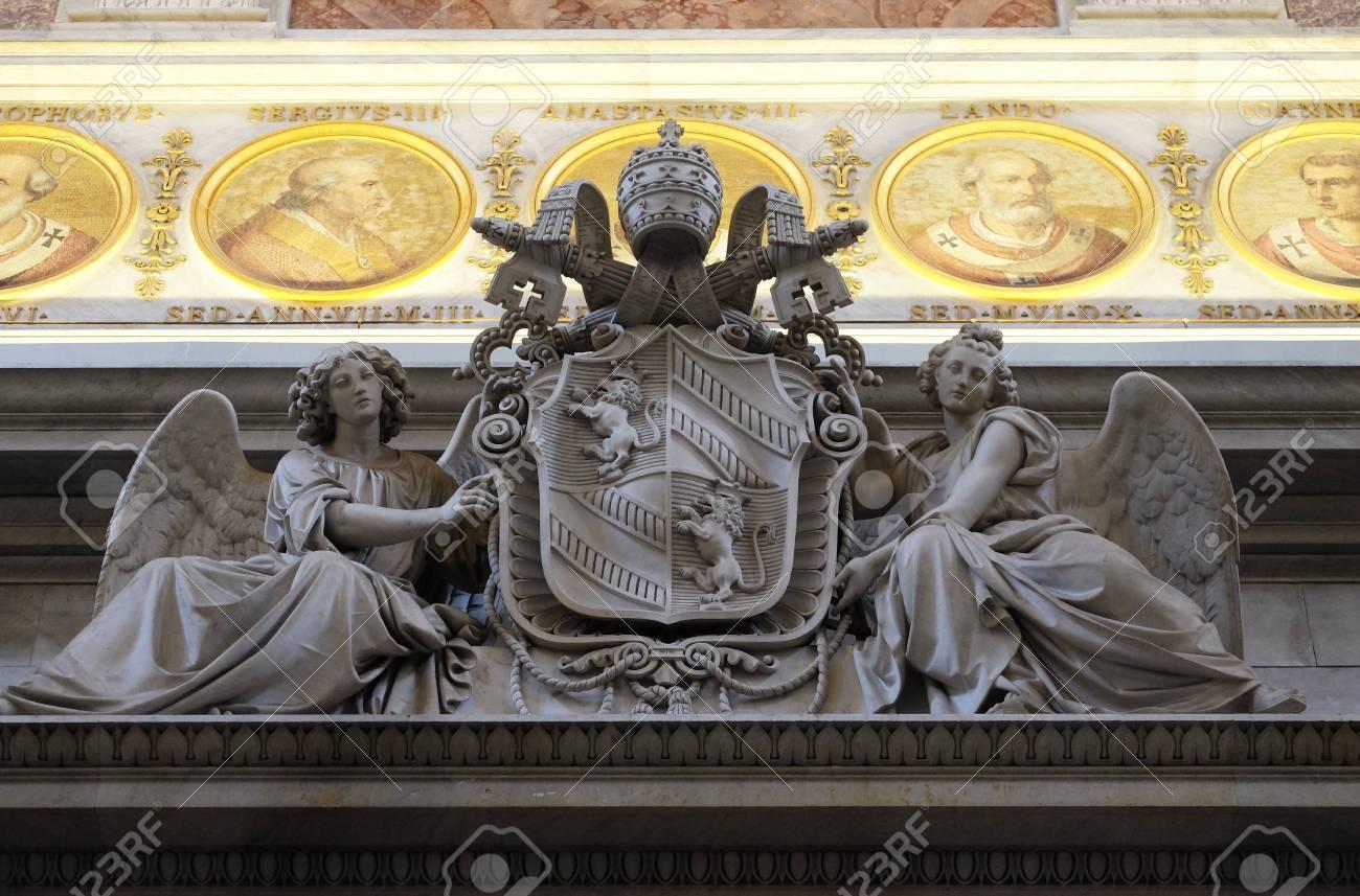 Coat Of Arms Of Pope Pius IX, Basilica Of Saint Paul Outside The Walls,