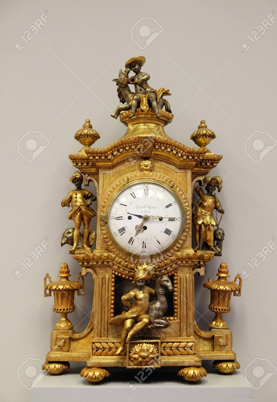 18th Century Clock Exhibited In Museum Of Arts And Crafts Zagreb Stock Photo Picture And Royalty Free Image Image 78805279
