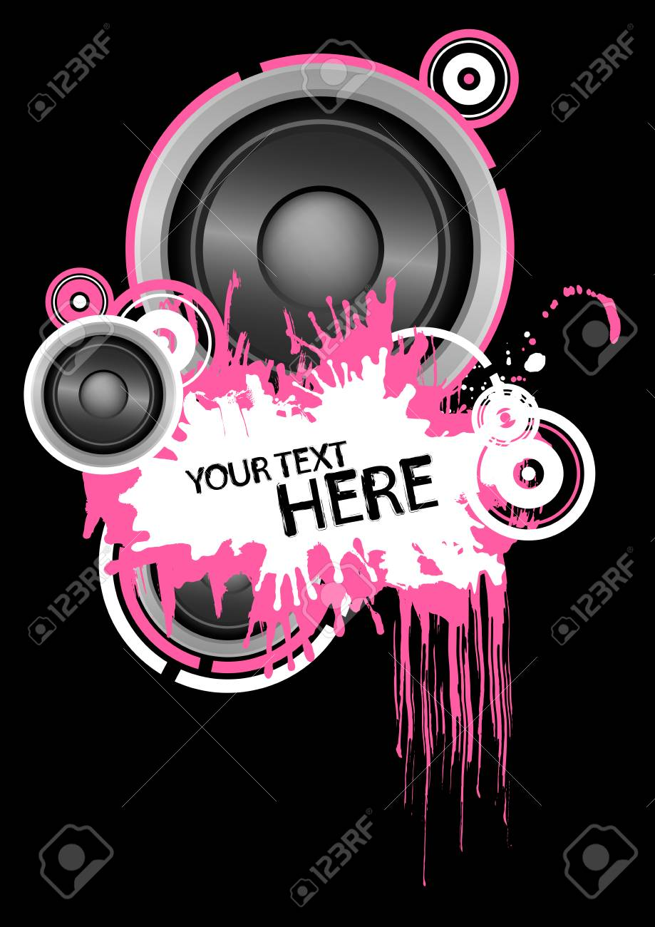 Grunge speaker design with copy space Stock Vector - 4587981
