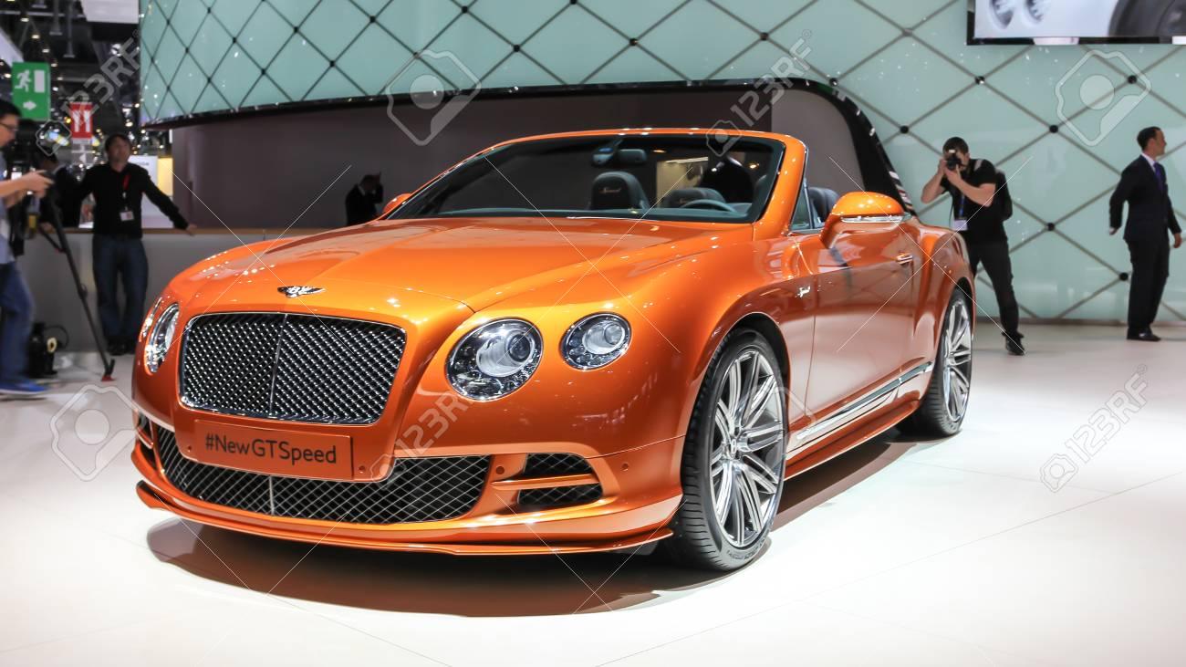 Geneva, Switzerland - March 2, 2014: 2014 Bentley Continental ...