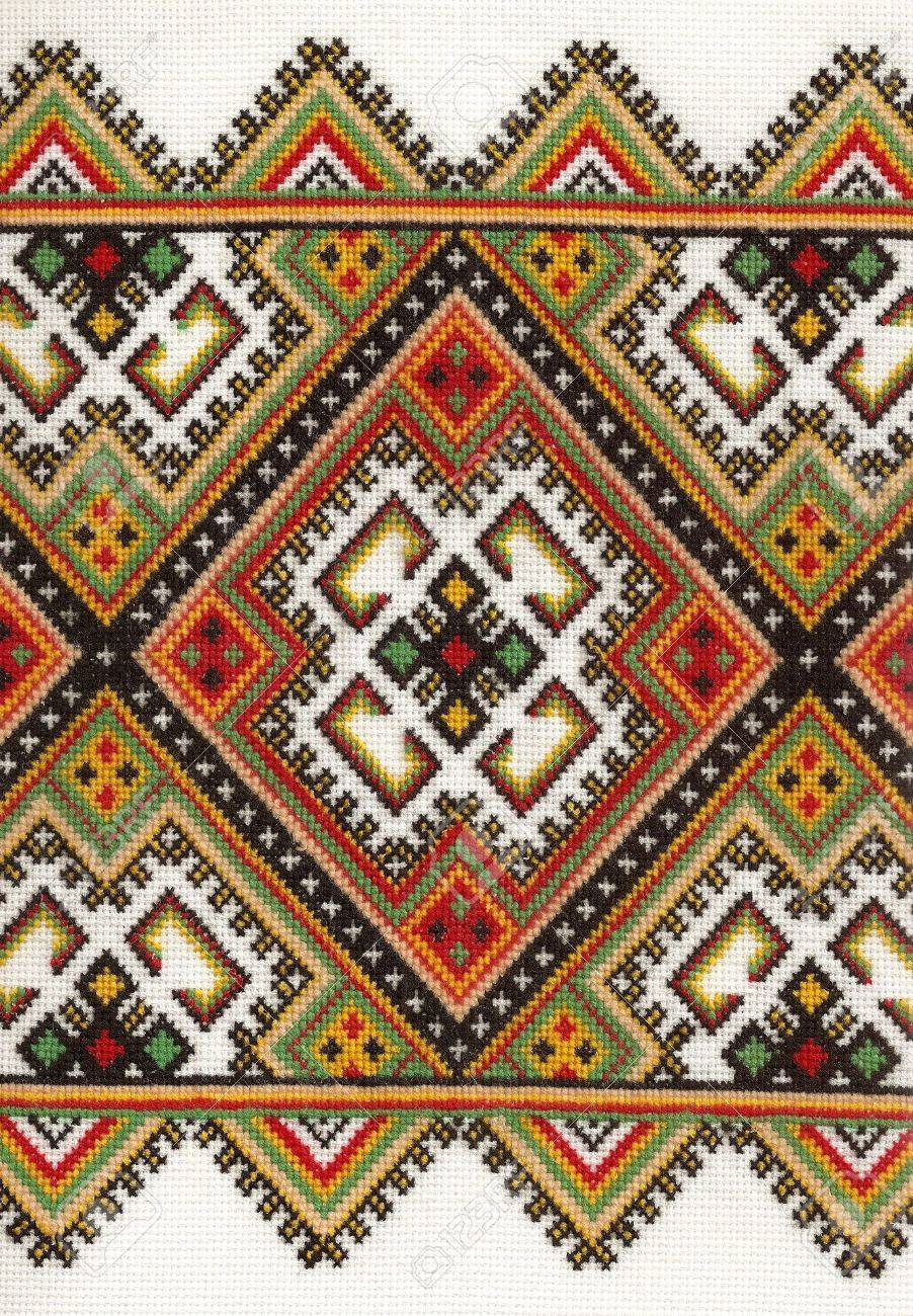 Textured pattern of Ukrainian national style embrioder Stock Photo - 6126840