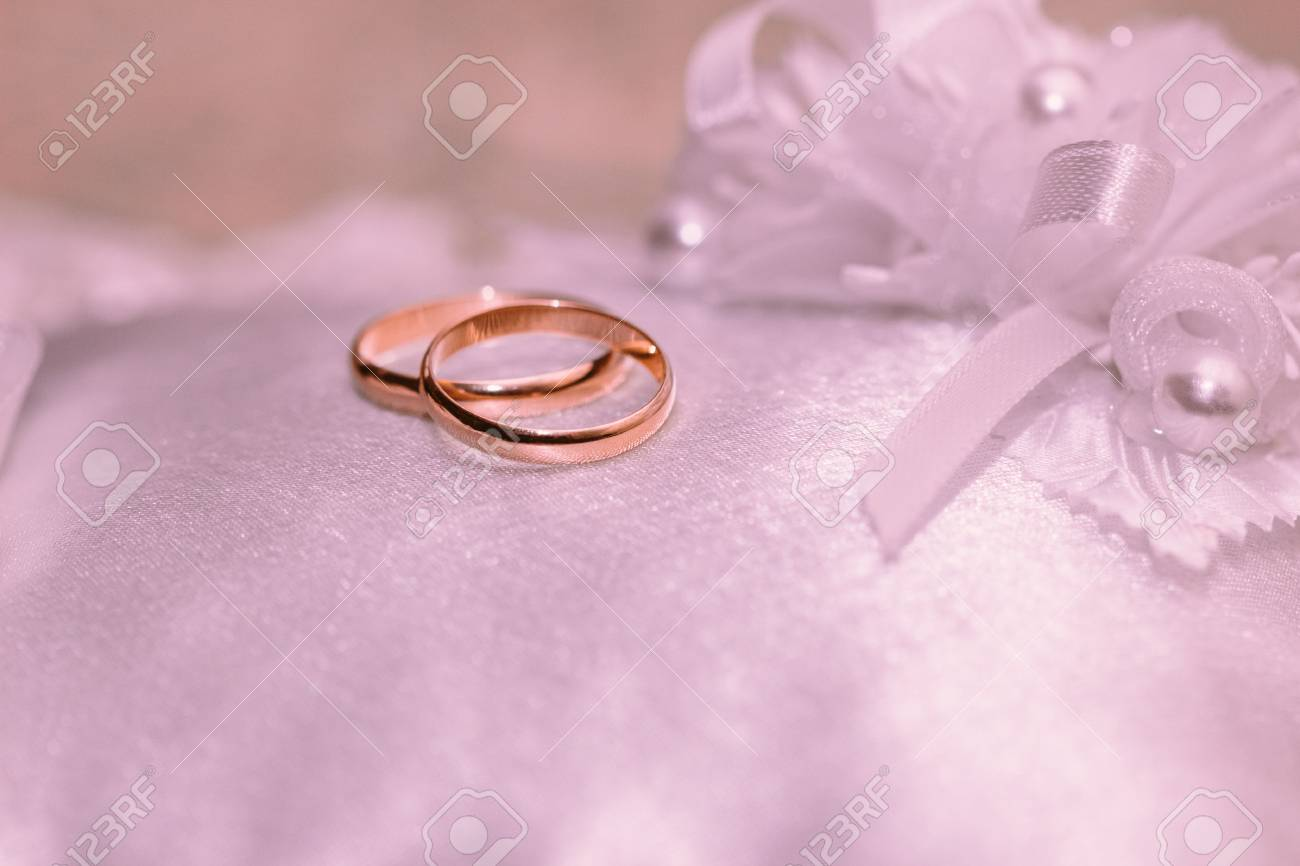 Beautiful Wedding Rings Close-up Stock Photo, Picture And Royalty ...