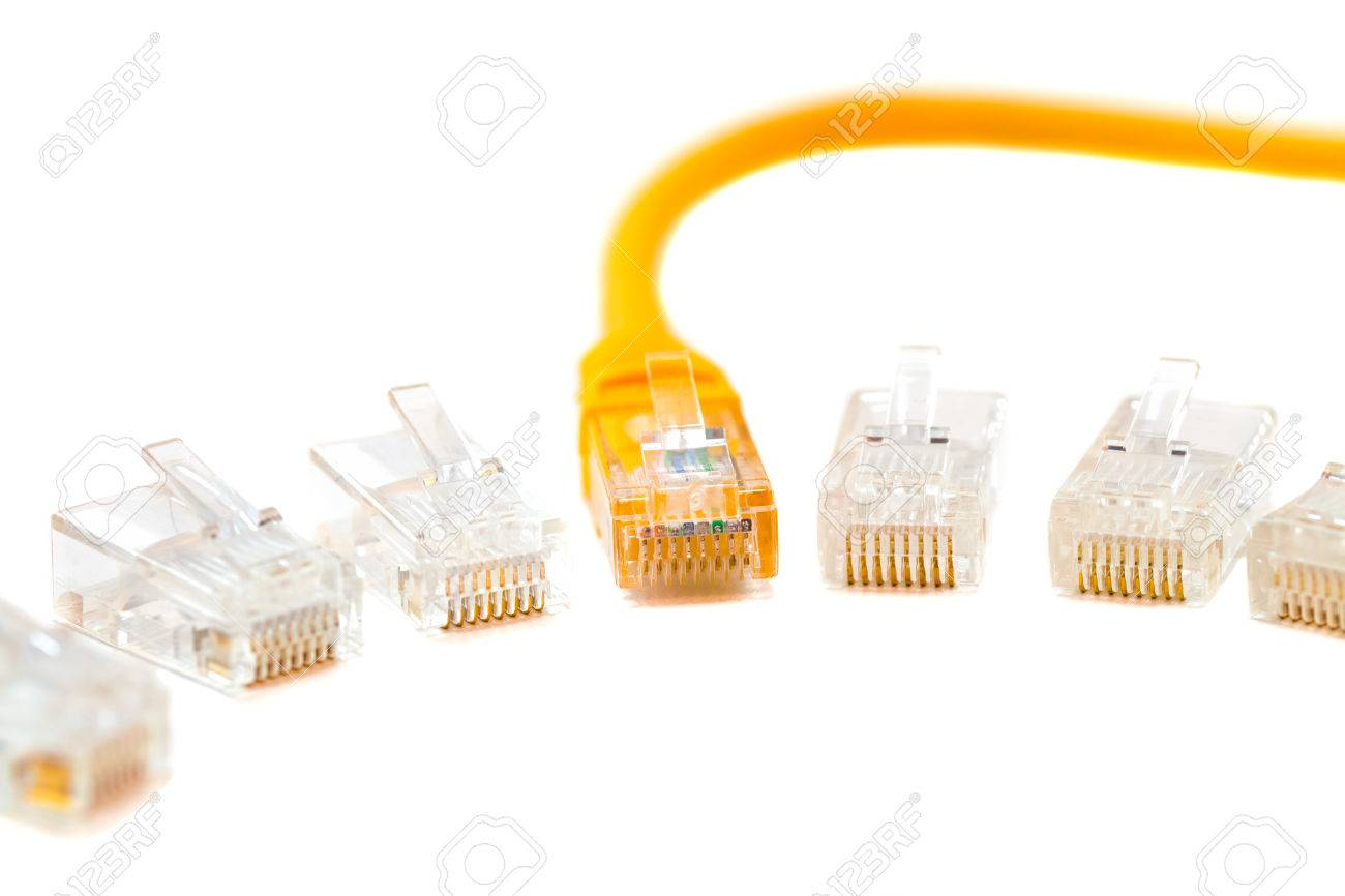 Wiring Up Rj45 Plug Switch Diagram Cat6 Cable An Ethernet Wire And Head Into Network Rh 123rf Com Connector