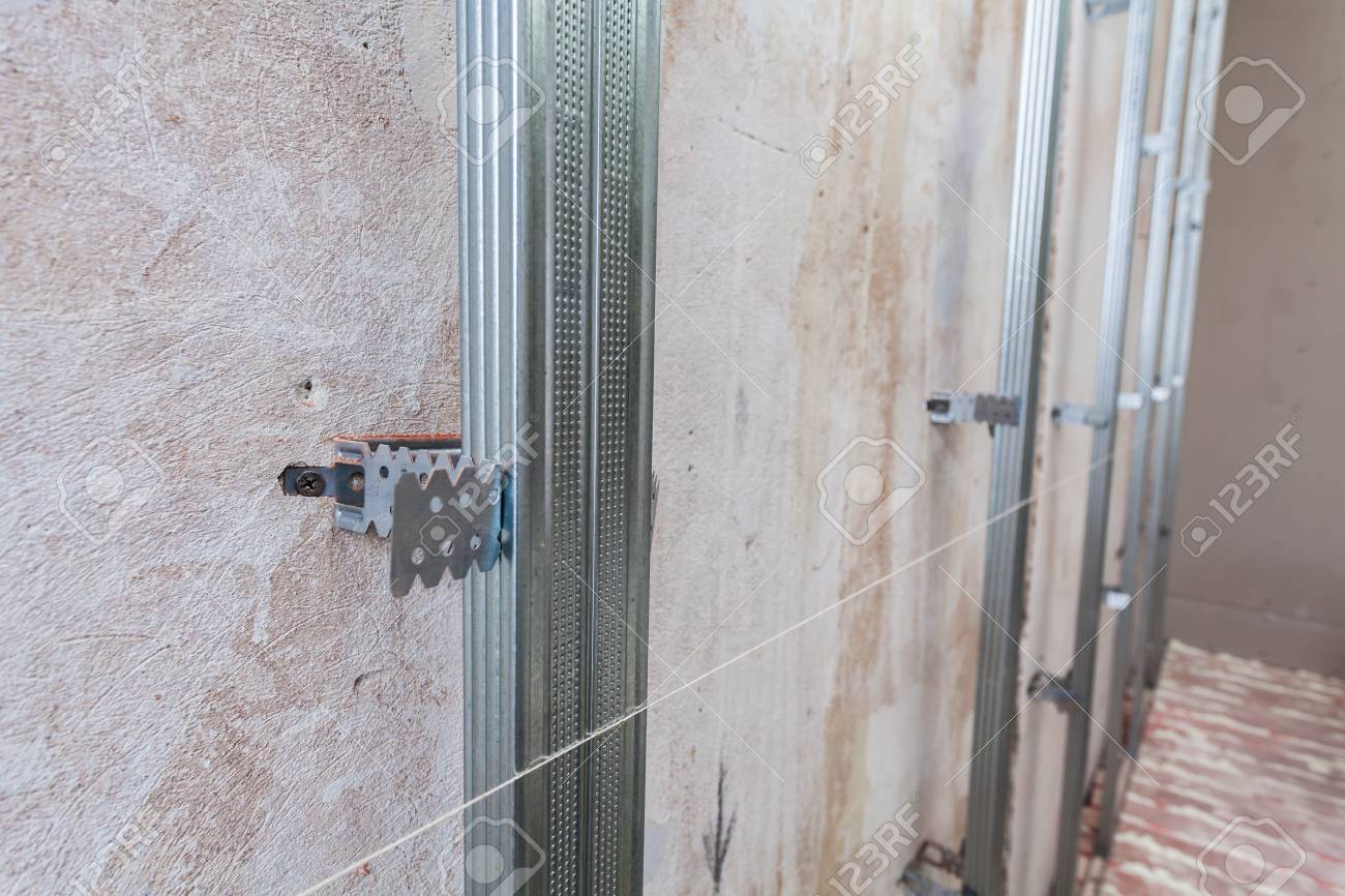 Interieur Der Wohnung Mit Materialien Während Auf Dem Bau, Umbau ...