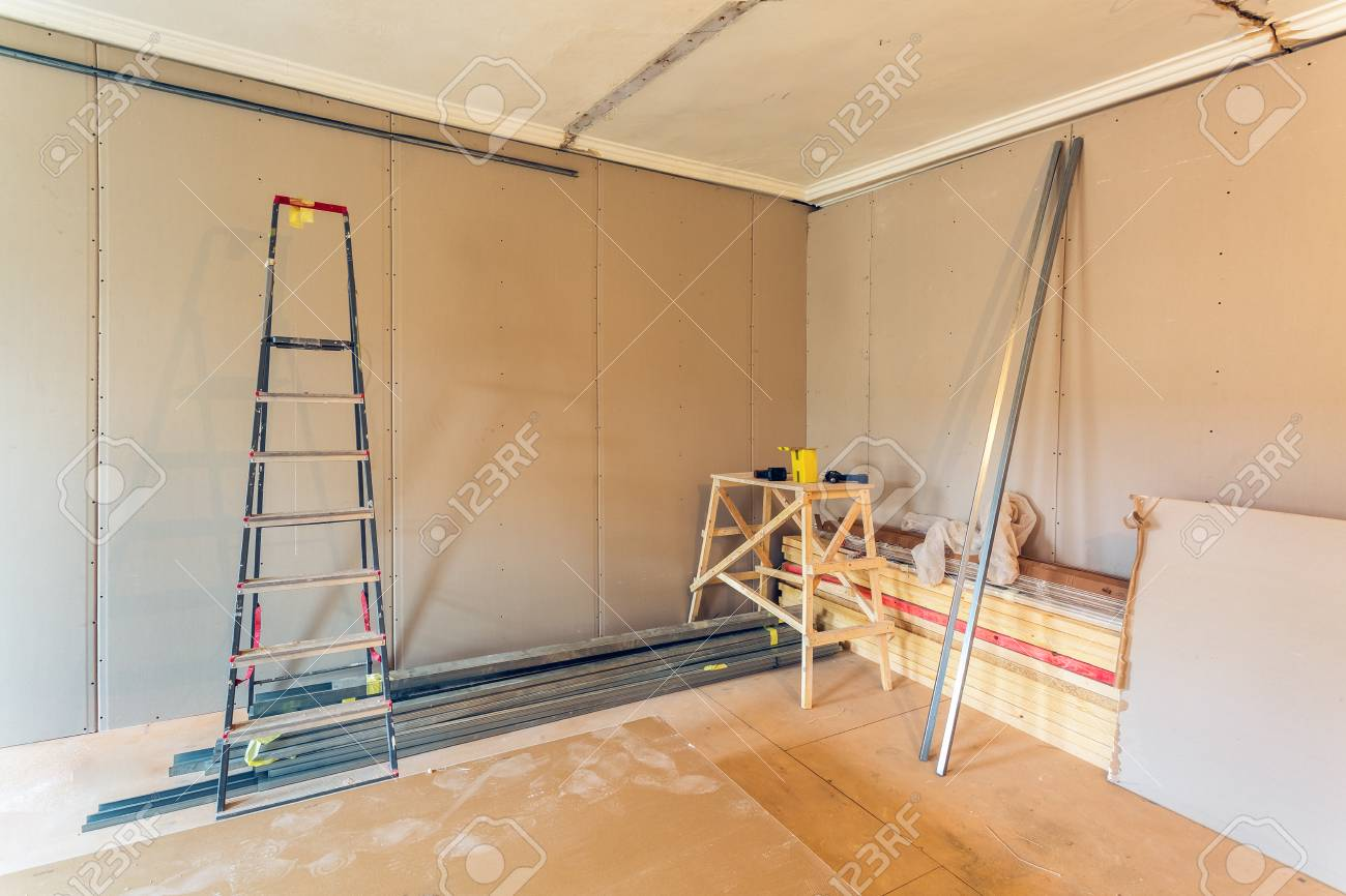 Interior Of Apartment During Construction, Remodeling, Renovation ...