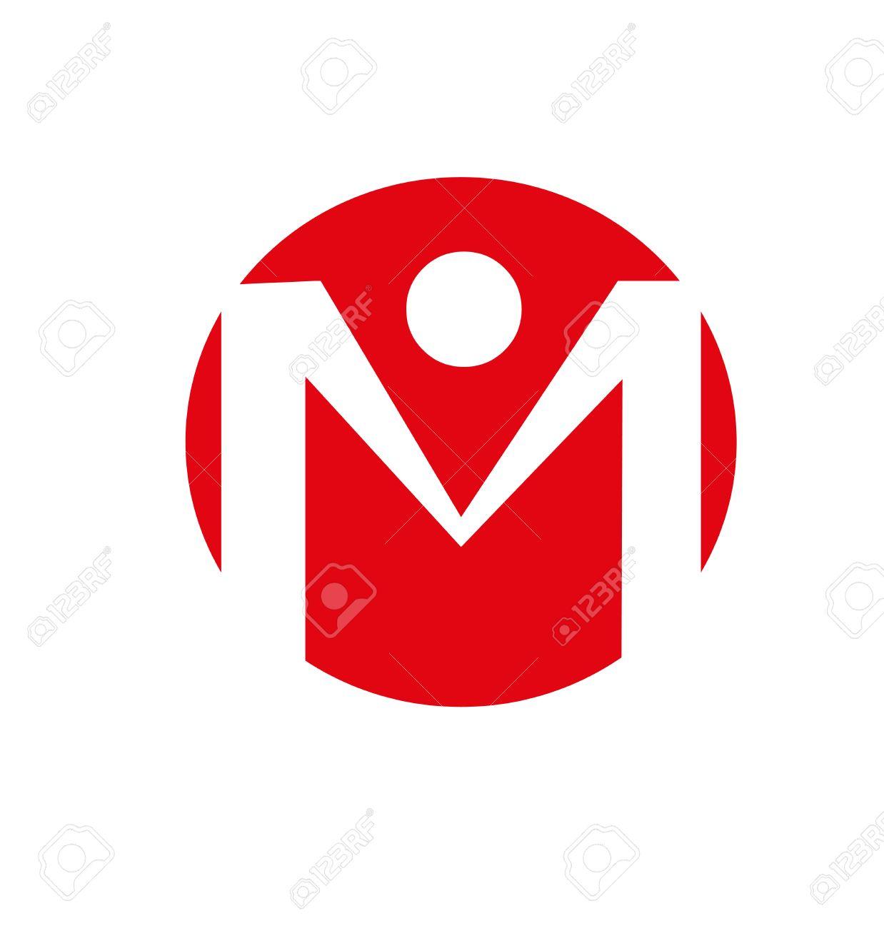 Letter m Logo Red Letter m Logo Alphabet