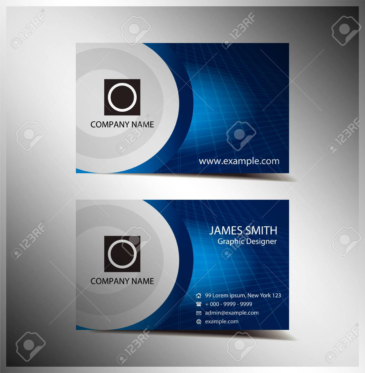 Professional And Designer Business Card Or Visiting Card Royalty ...