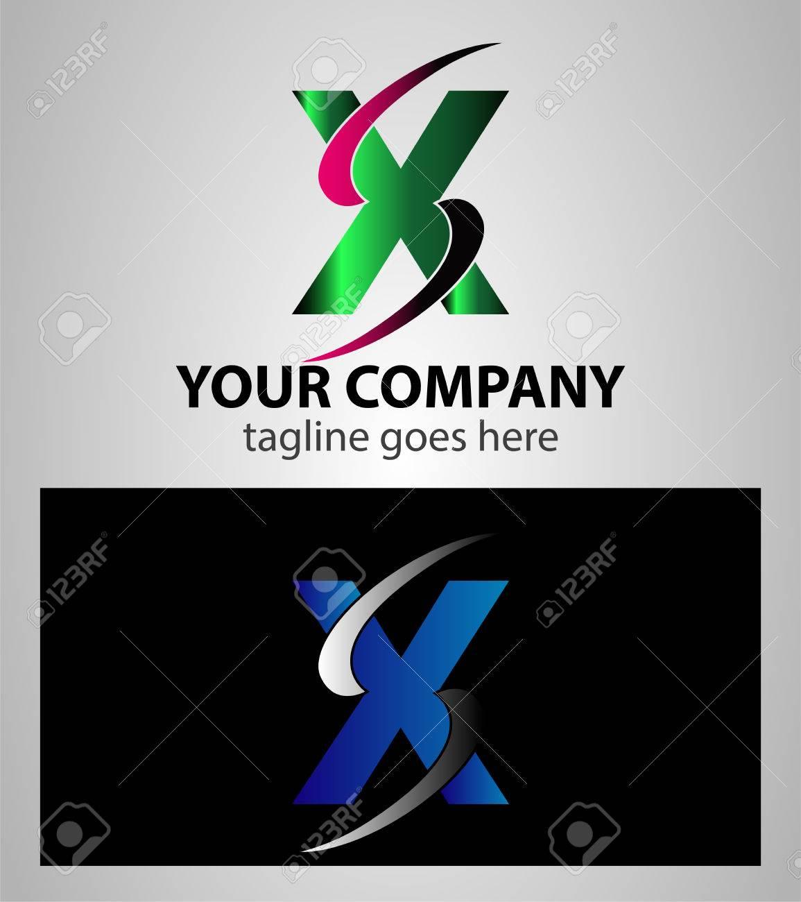 Carta X Elementos De Plantilla Logotipo Diseño Del Símbolo ...