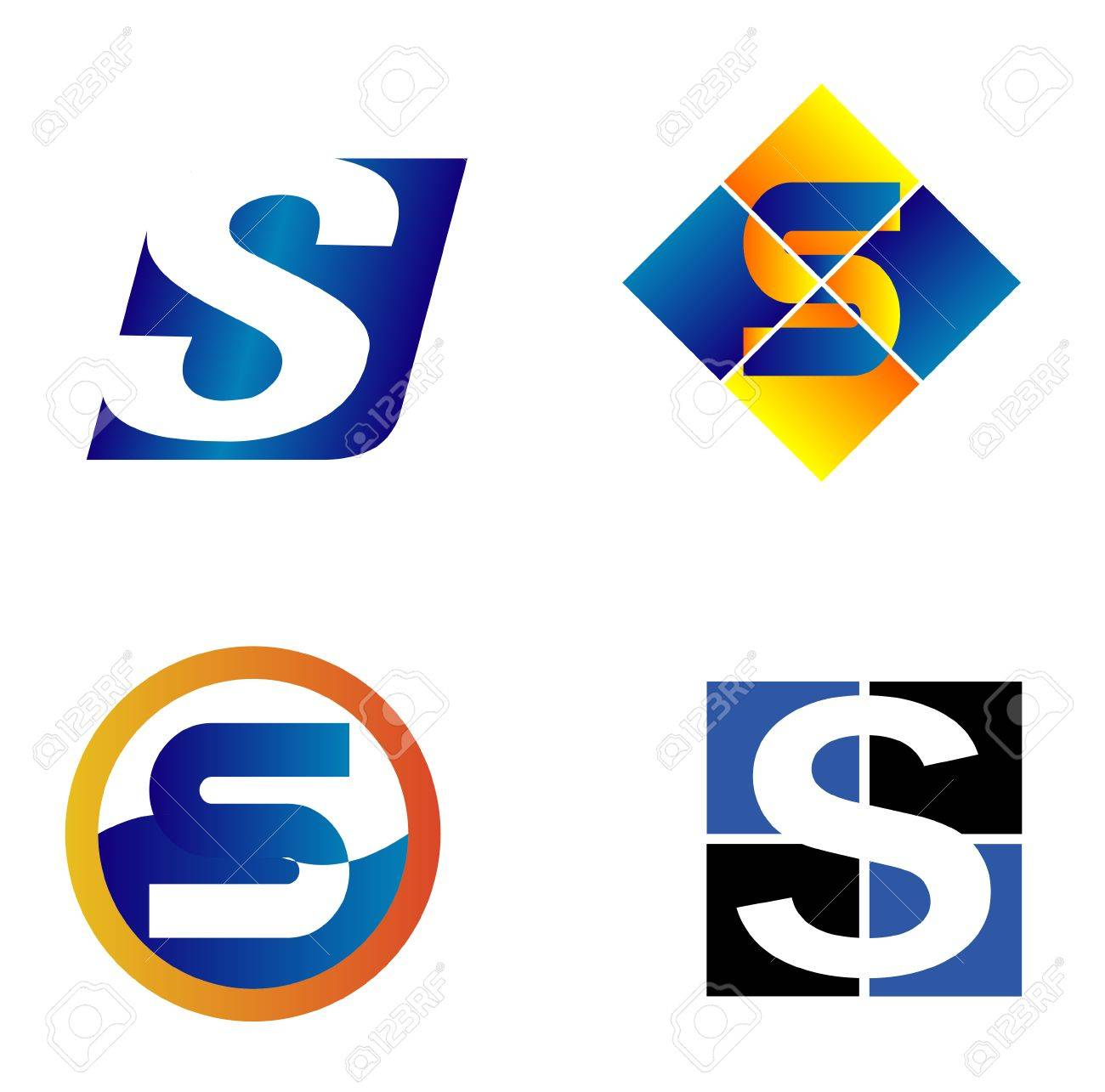 Alphabet Symbols And Elements Of Letter S Such A Icon Royalty Free