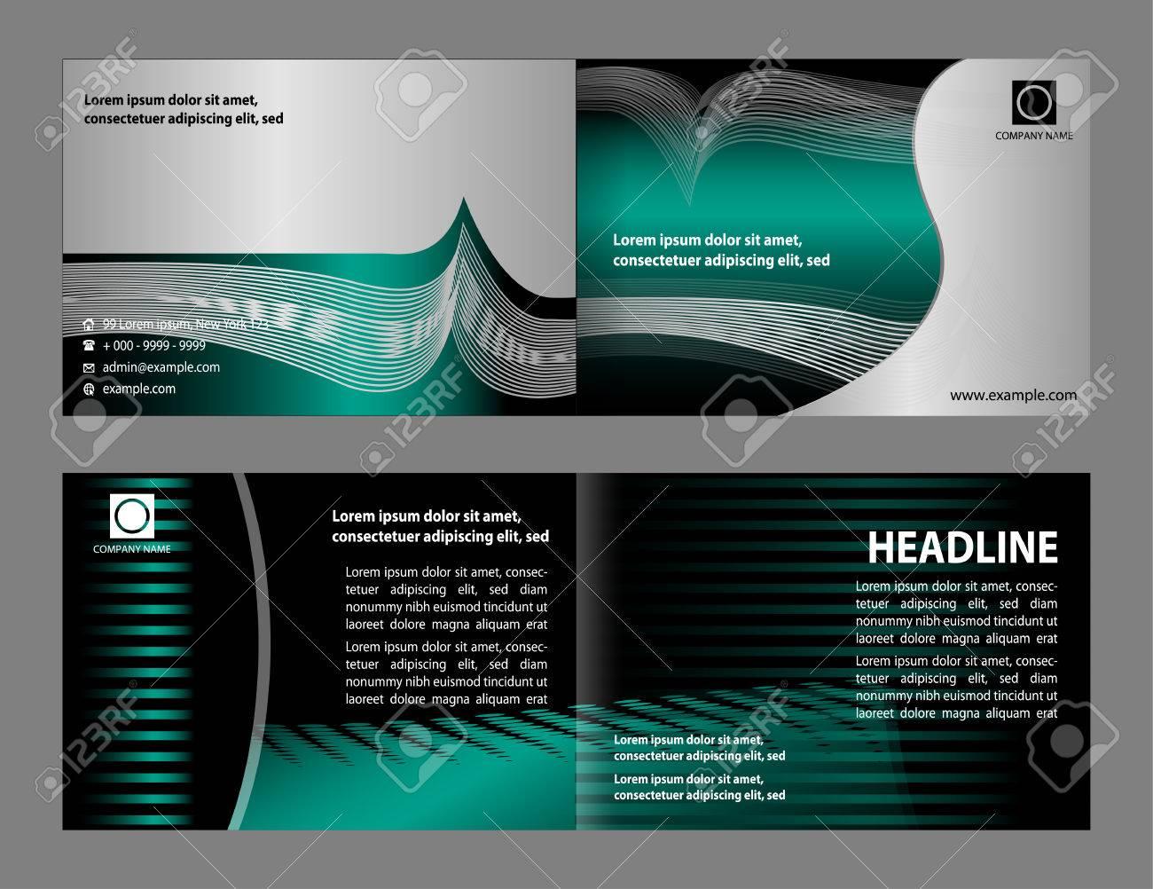 vector empty bifold brochure print template design royalty free