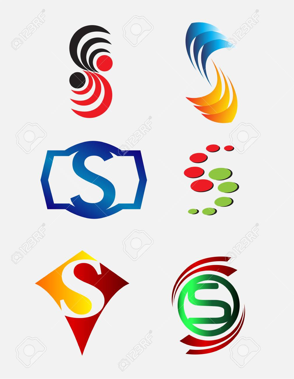 Set Of Decorative Letter S Icons Logo And Elements Royalty Free