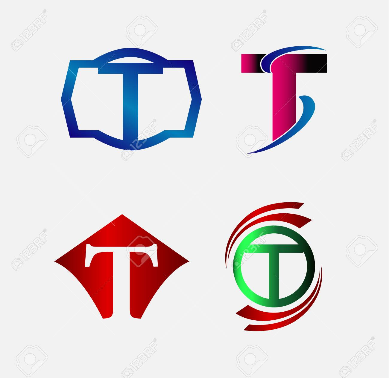 set of decorative letter t icons and elements stock vector 41171978