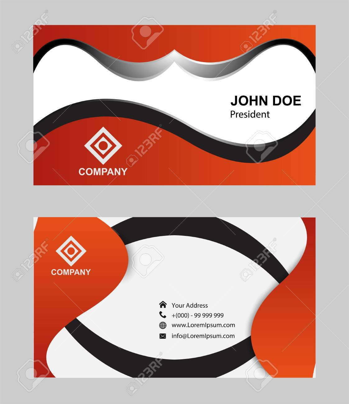 Modern simple luxury standard business card design with sharp modern simple luxury standard business card design with sharp corners stock vector 56238501 reheart Images