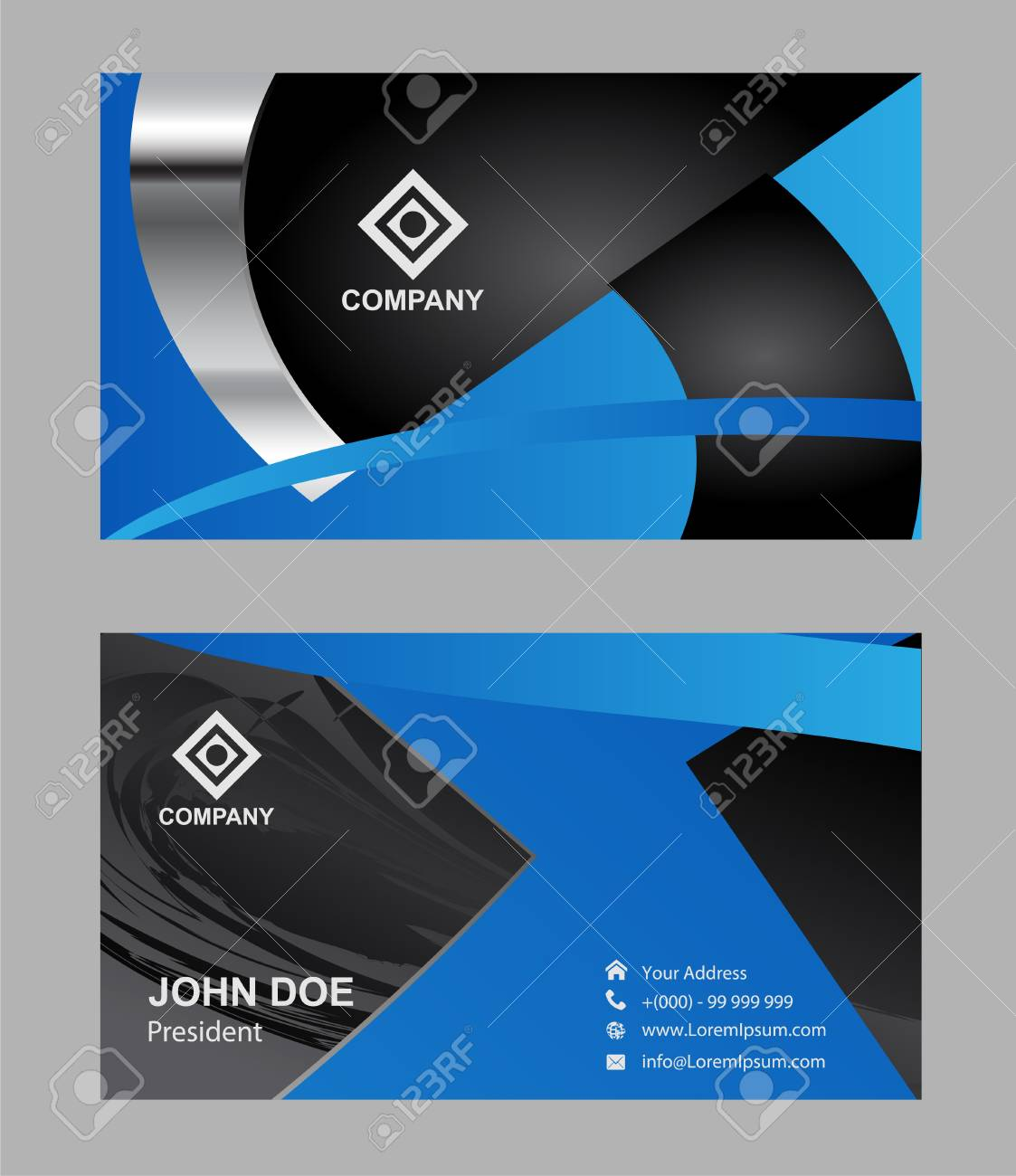 modern simple luxury standard business card design with sharp corners stock vector 56239653 - Simple Business Card Design