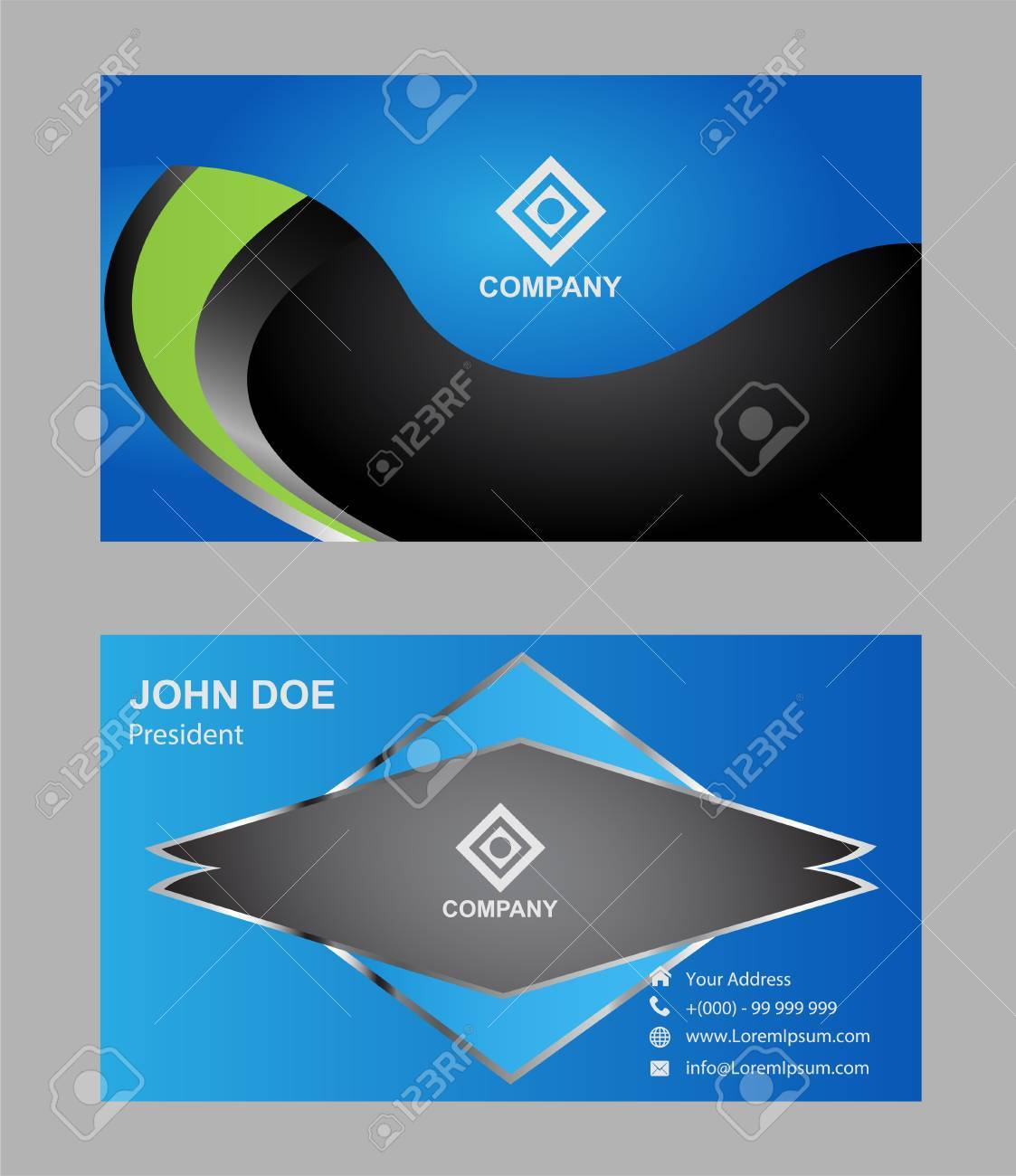 Modern, Simple & Luxury Standard Business Card Design With Sharp ...