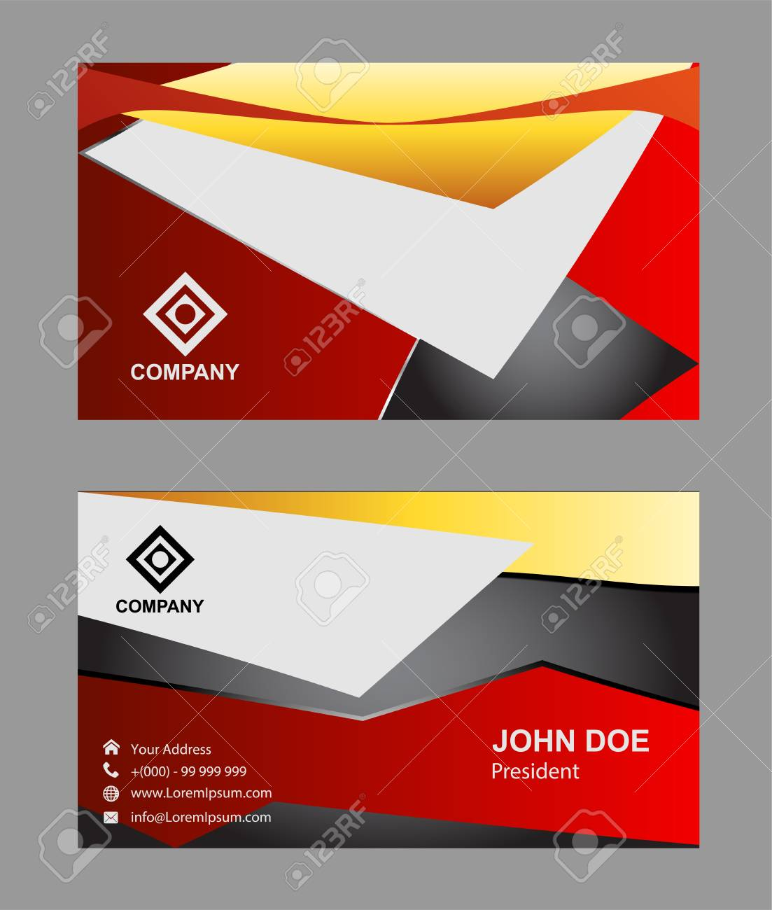 Modern simple luxury standard business card design with sharp modern simple luxury standard business card design with sharp corners stock vector 56150582 reheart Images