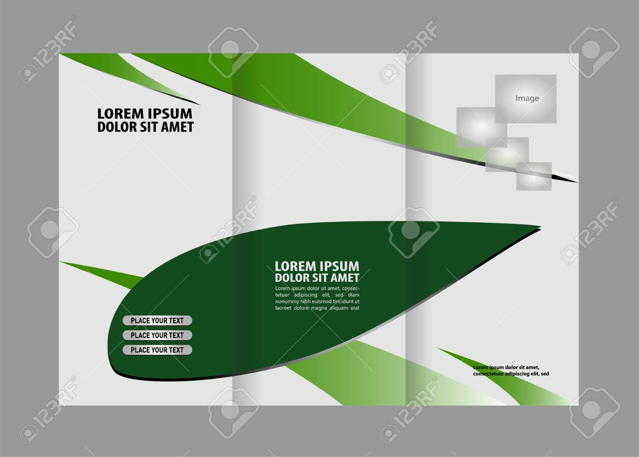 professional business trifold brochure template or flyer design