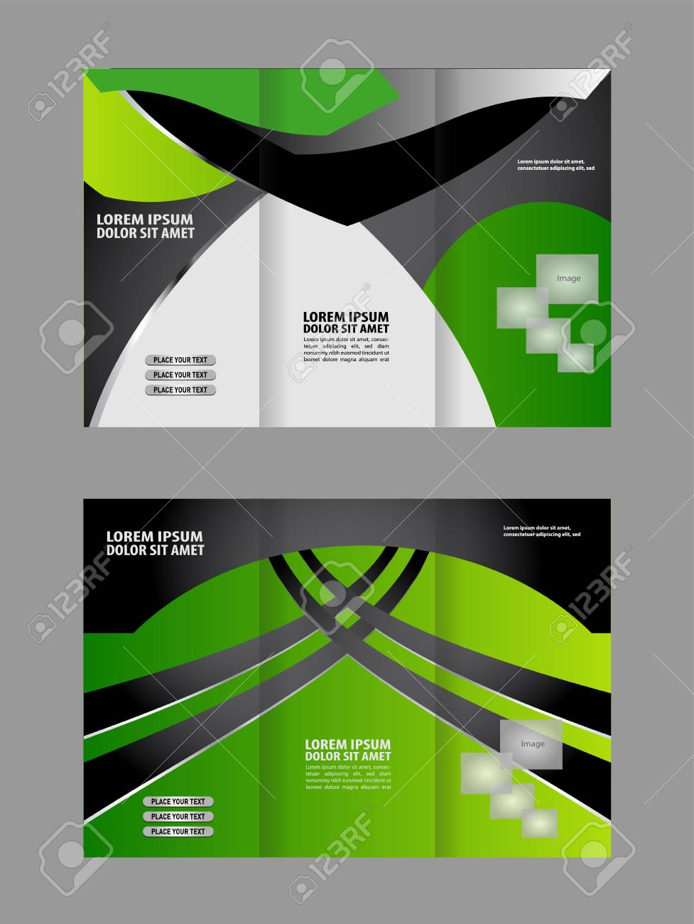 Tri-fold Brochure Template.Corporate Business Background Or Cover ...