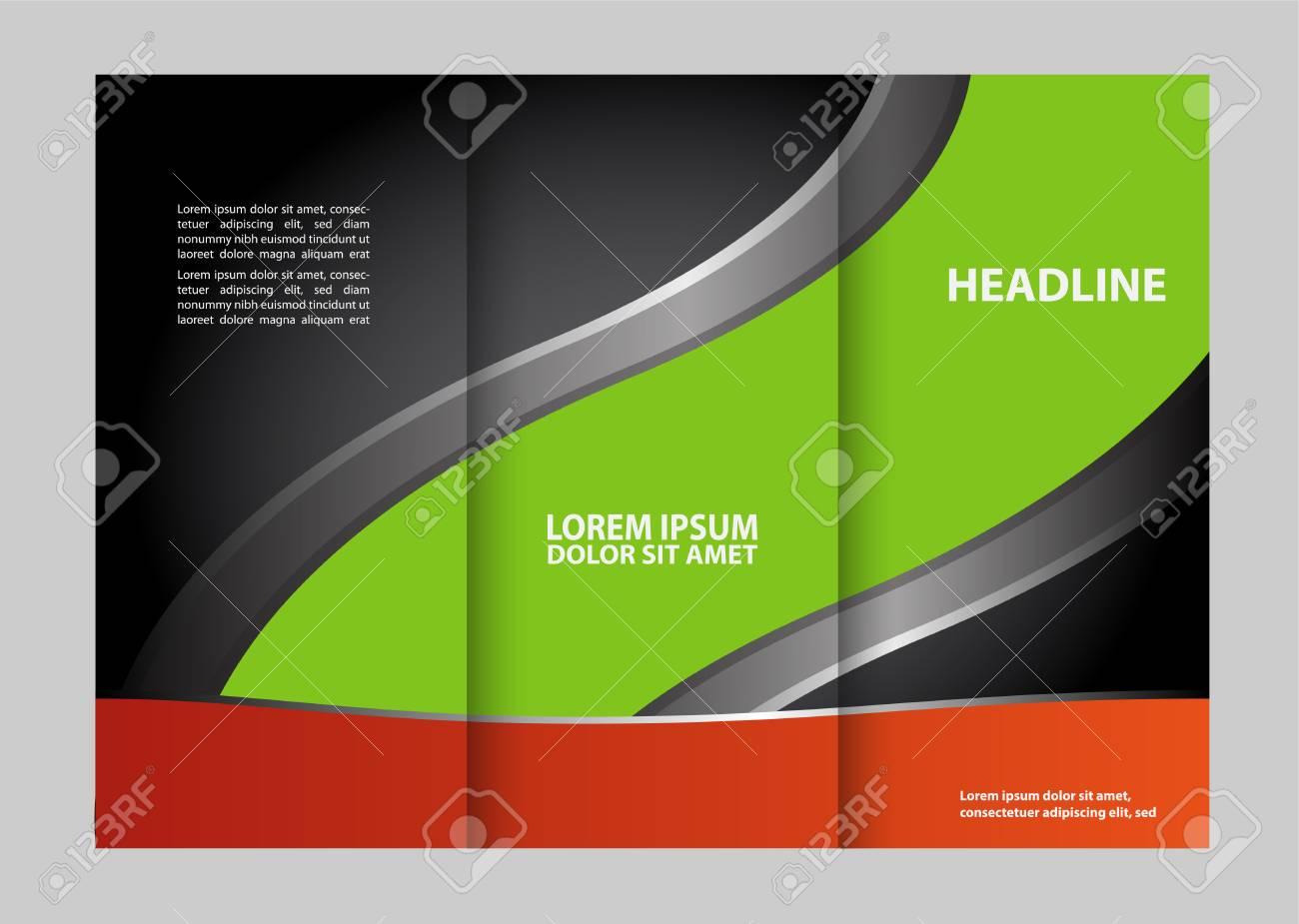 Business Theme Tri-fold Folheto Design E Catálogo Conceito De ...
