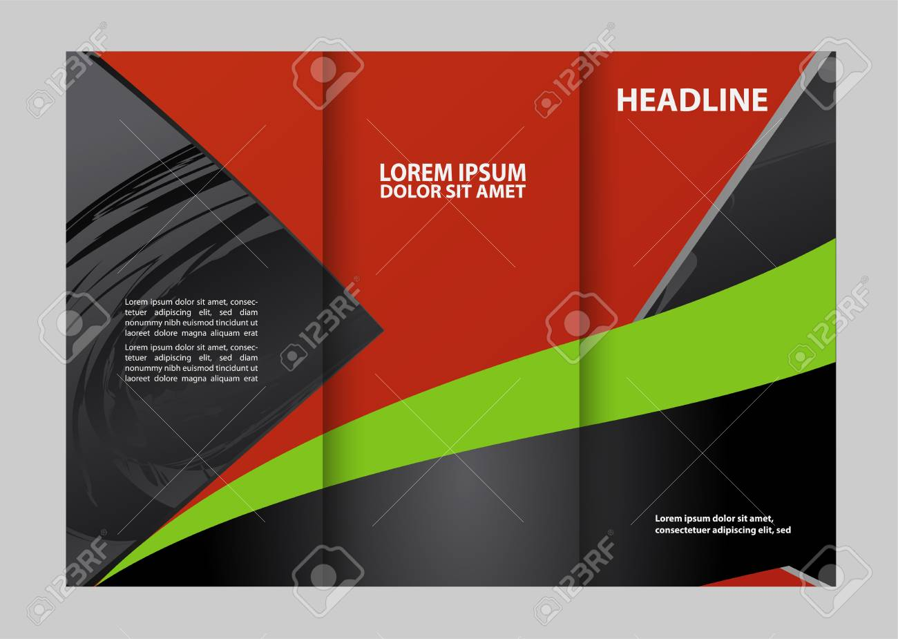 professional business three fold flyer template corporate brochure