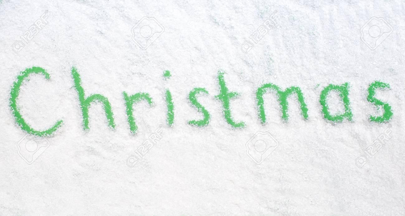 Weihnachts Wörter Auf Schnee Lizenzfreie Fotos, Bilder Und Stock ...