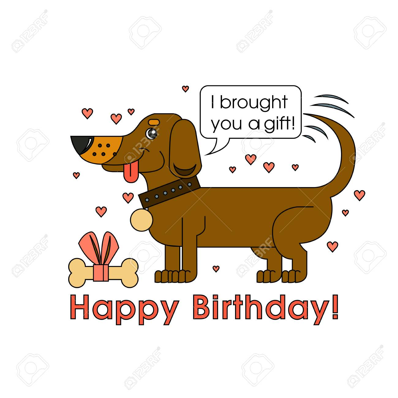 Happy Birthday Card For Dog Lover Of The Breed Dachshund Congratulates On