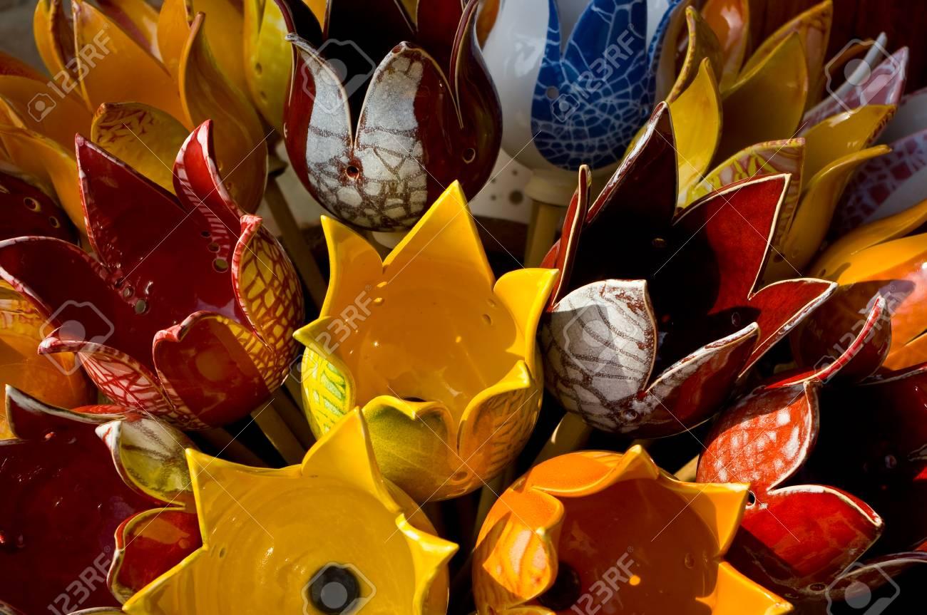 Tulipes en céramique Maison et décoration de jardin Vue détaillée