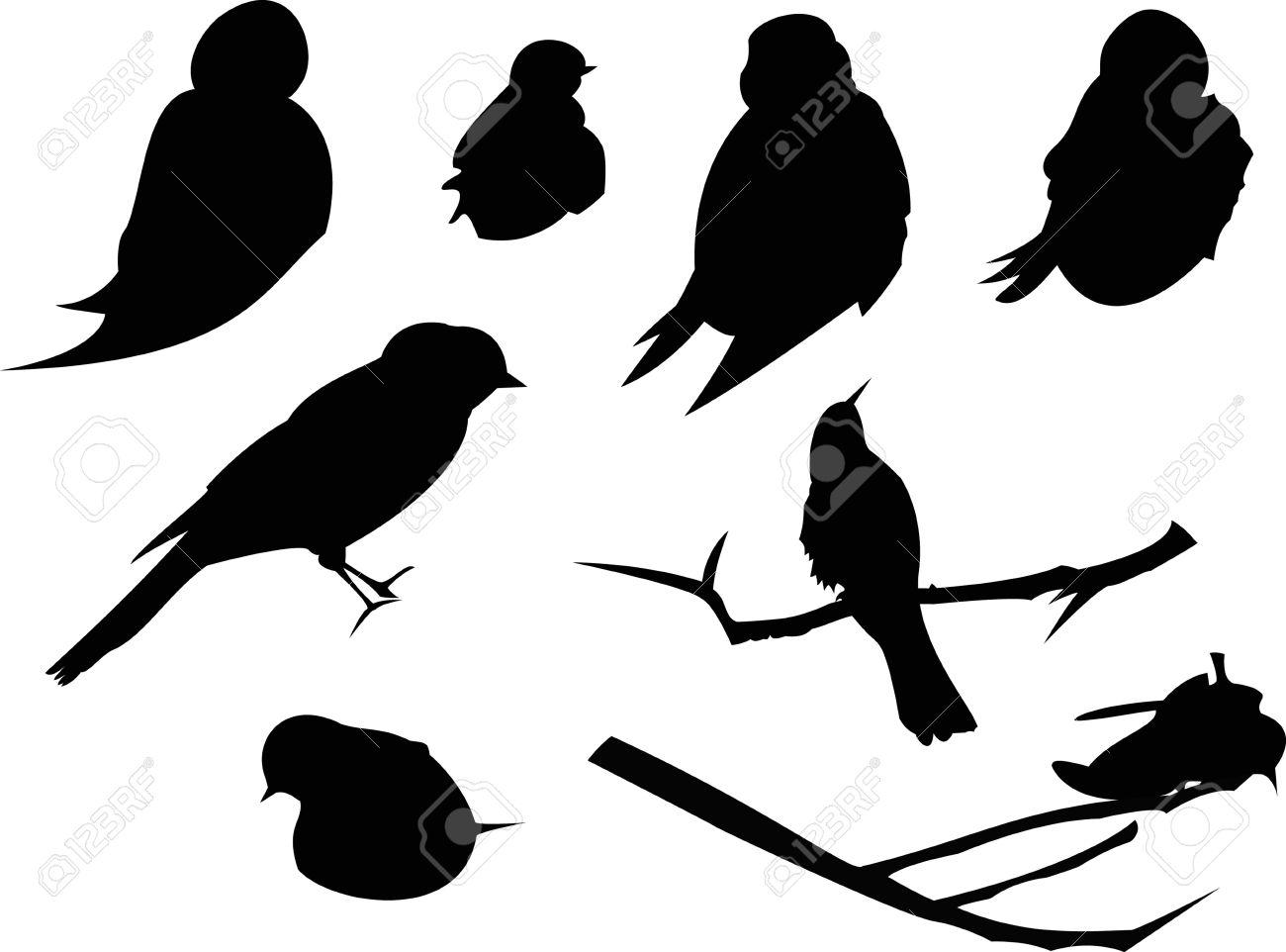 bird silhouette animal clip art royalty free cliparts vectors