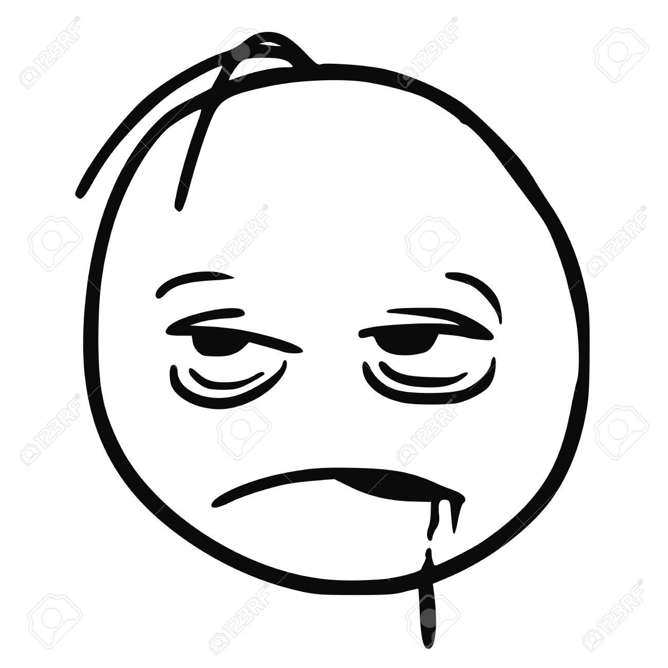 cartoon vector stickman who is very tired sick sleepy drunken rh 123rf com Hungry Face Cartoon tired looking face cartoon