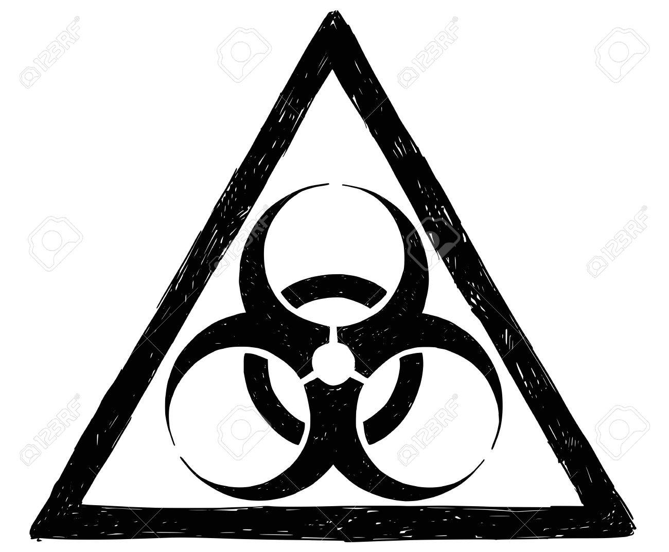Vector Drawing Illustration Of Biohazard Symbol Sign Royalty Free