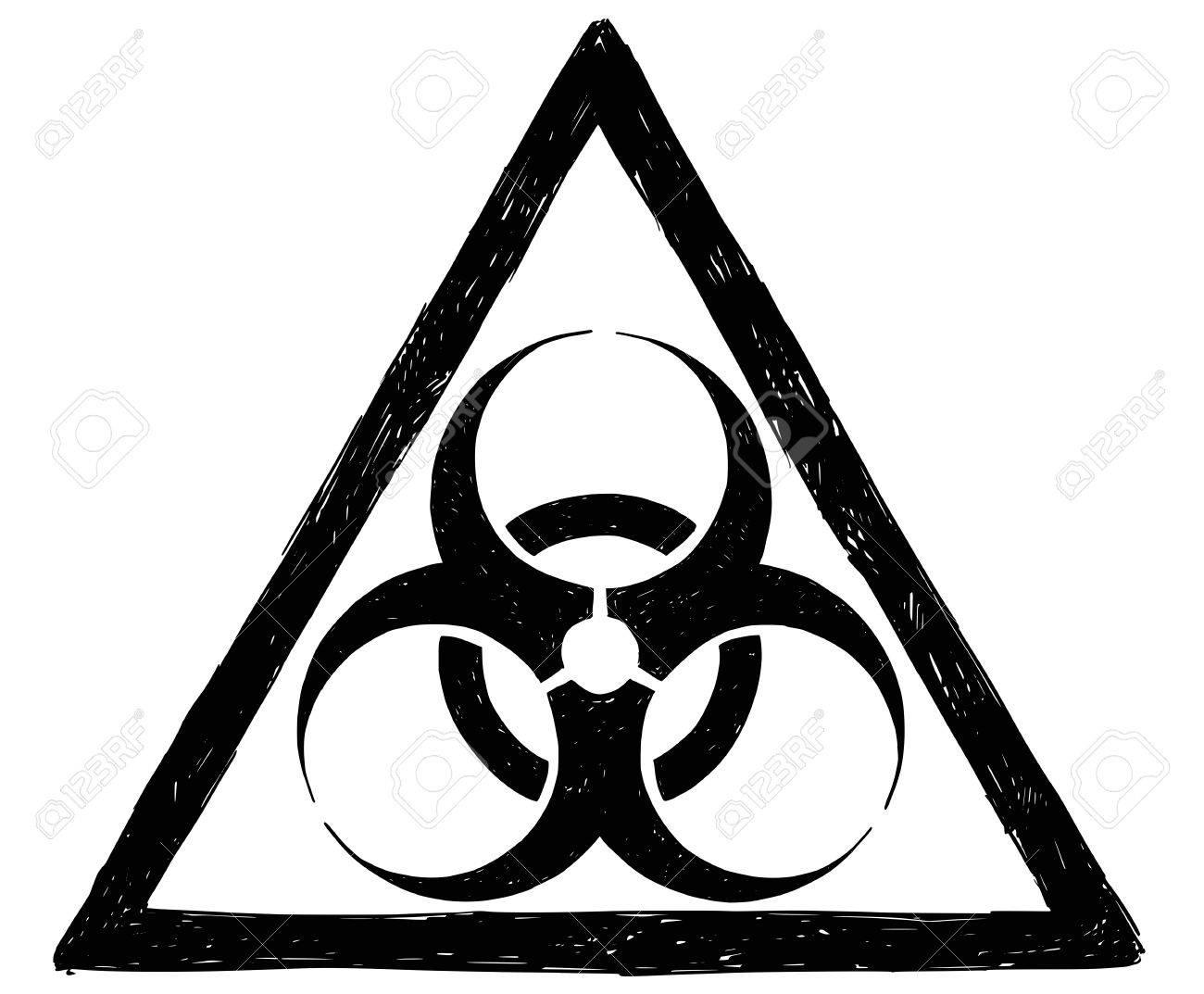 Vector Drawing Illustration Of Biohazard Symbol Sign Royalty Free