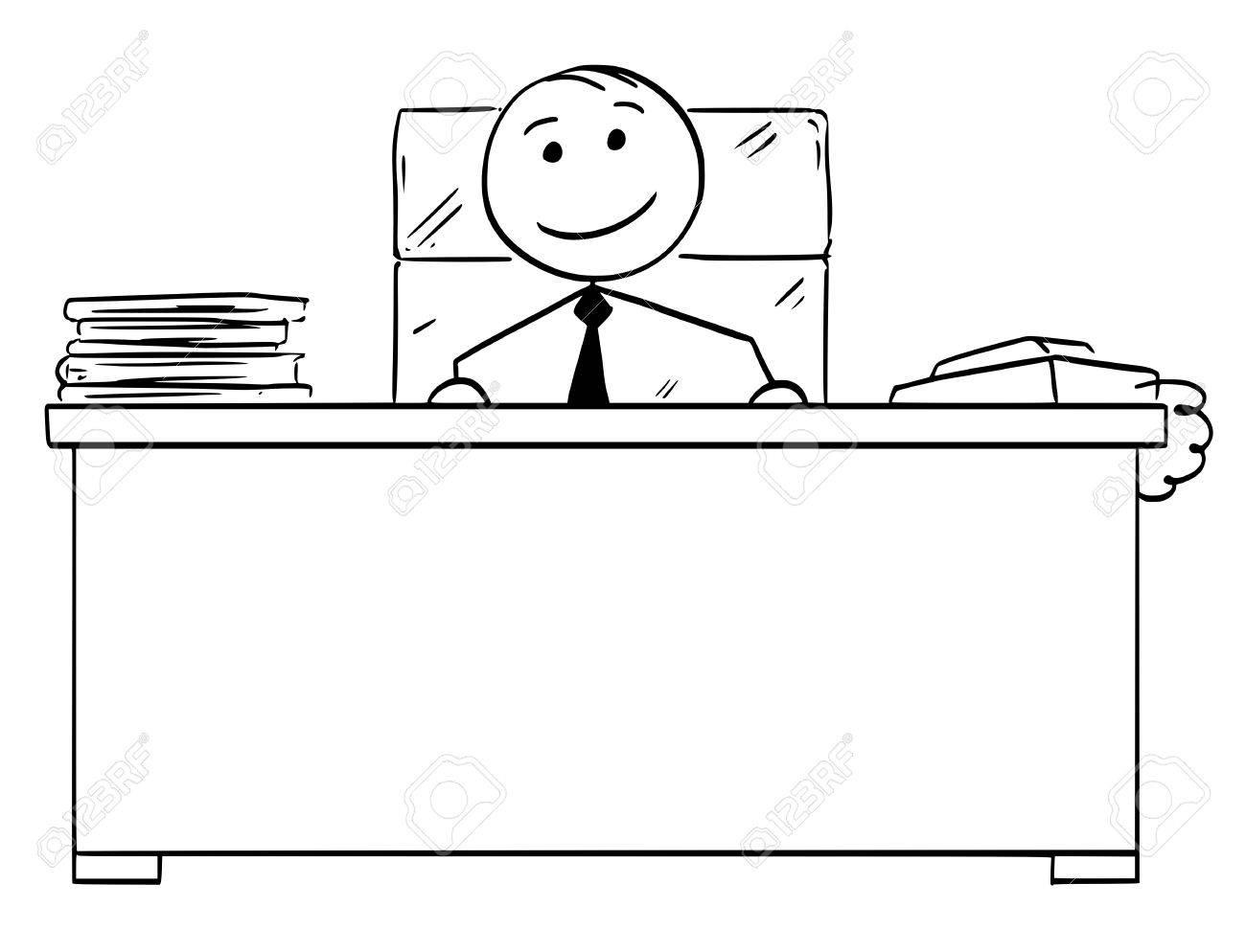 Hombre De Dibujos Animados Stickman Stickman Dibujo De Jefe Feliz