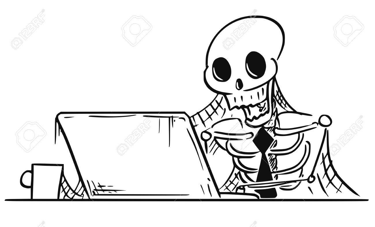 Ilustración Vectorial De Dibujos Animados De Esqueleto Humano ...