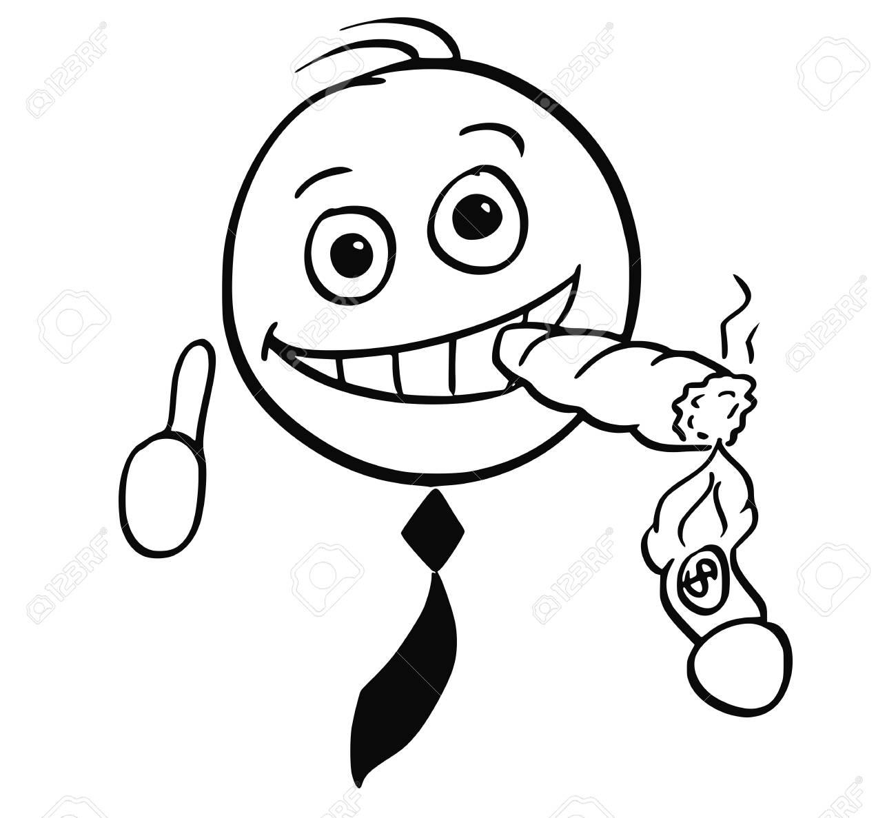 Hombre De Palo De Dibujos Animados Ilustración De Hombre De Negocios ...