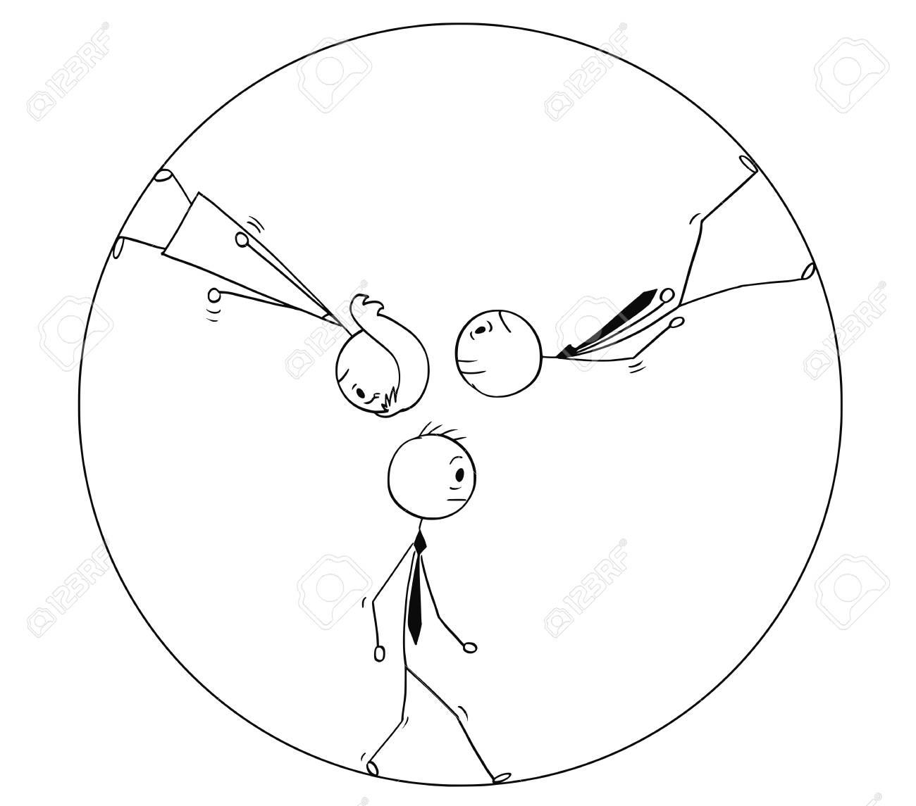 Homem Da Vara Dos Desenhos Animados Que Tira A Ilustracao
