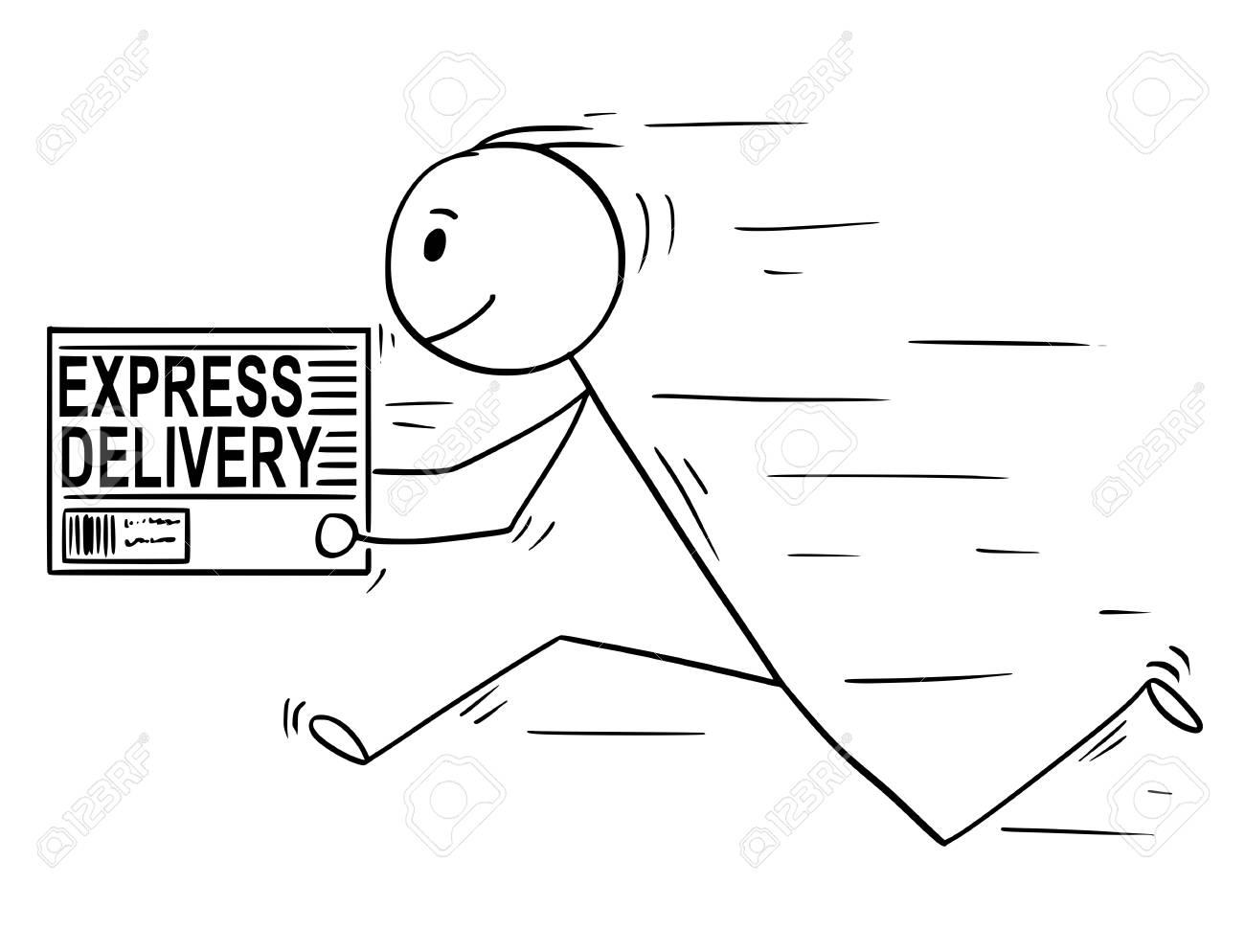 stick man running - Clip Art Library