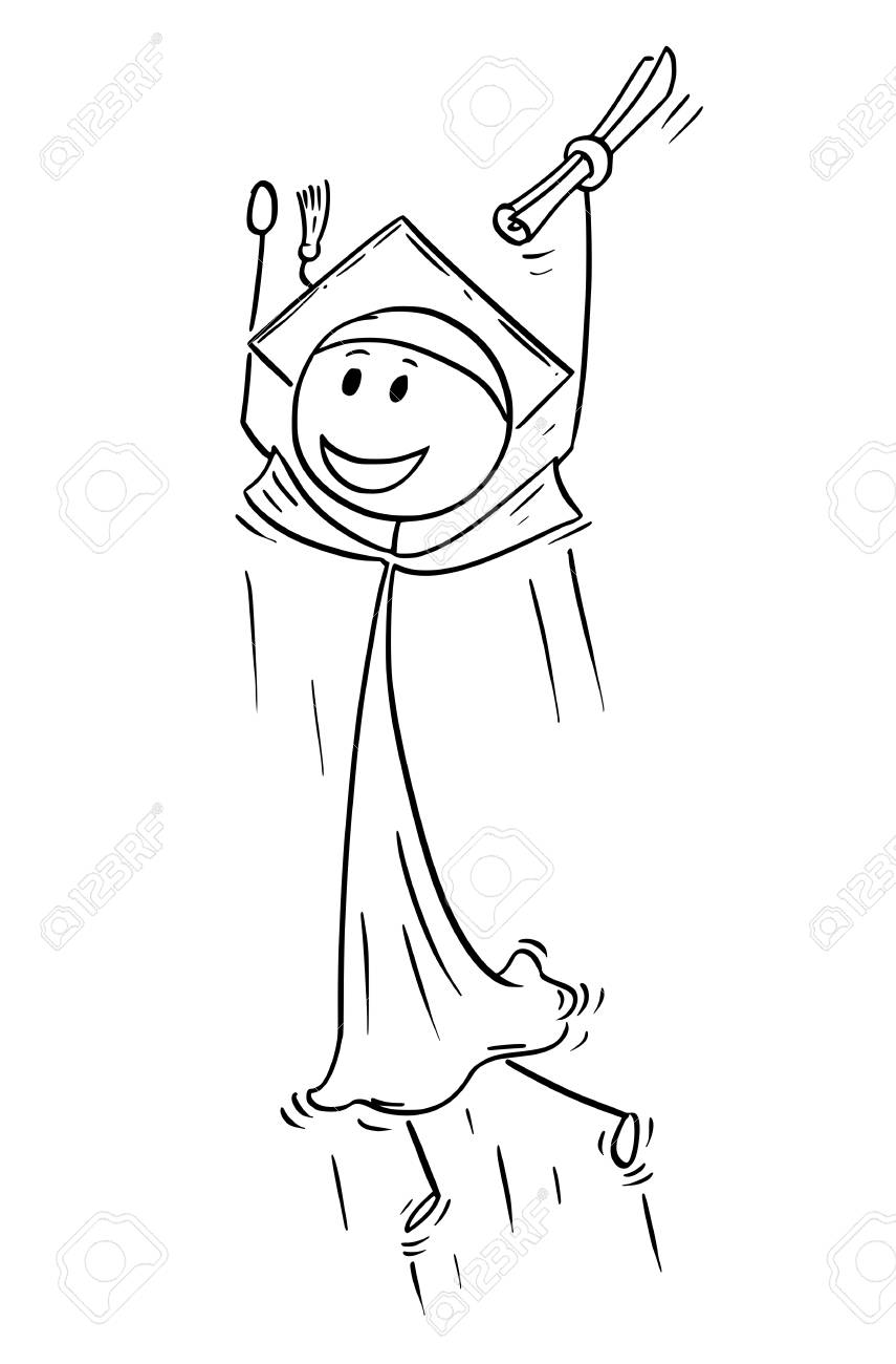 cartoon stick man drawing conceptual illustration of graduate royalty free cliparts vectors and stock illustration image 99712888 cartoon stick man drawing conceptual illustration of graduate