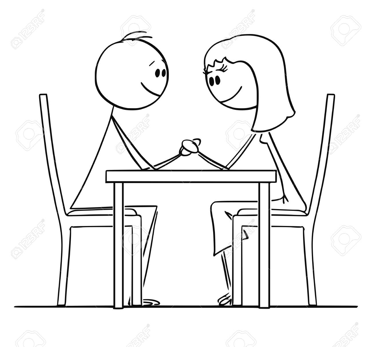 Image result for drawing a couple at a table