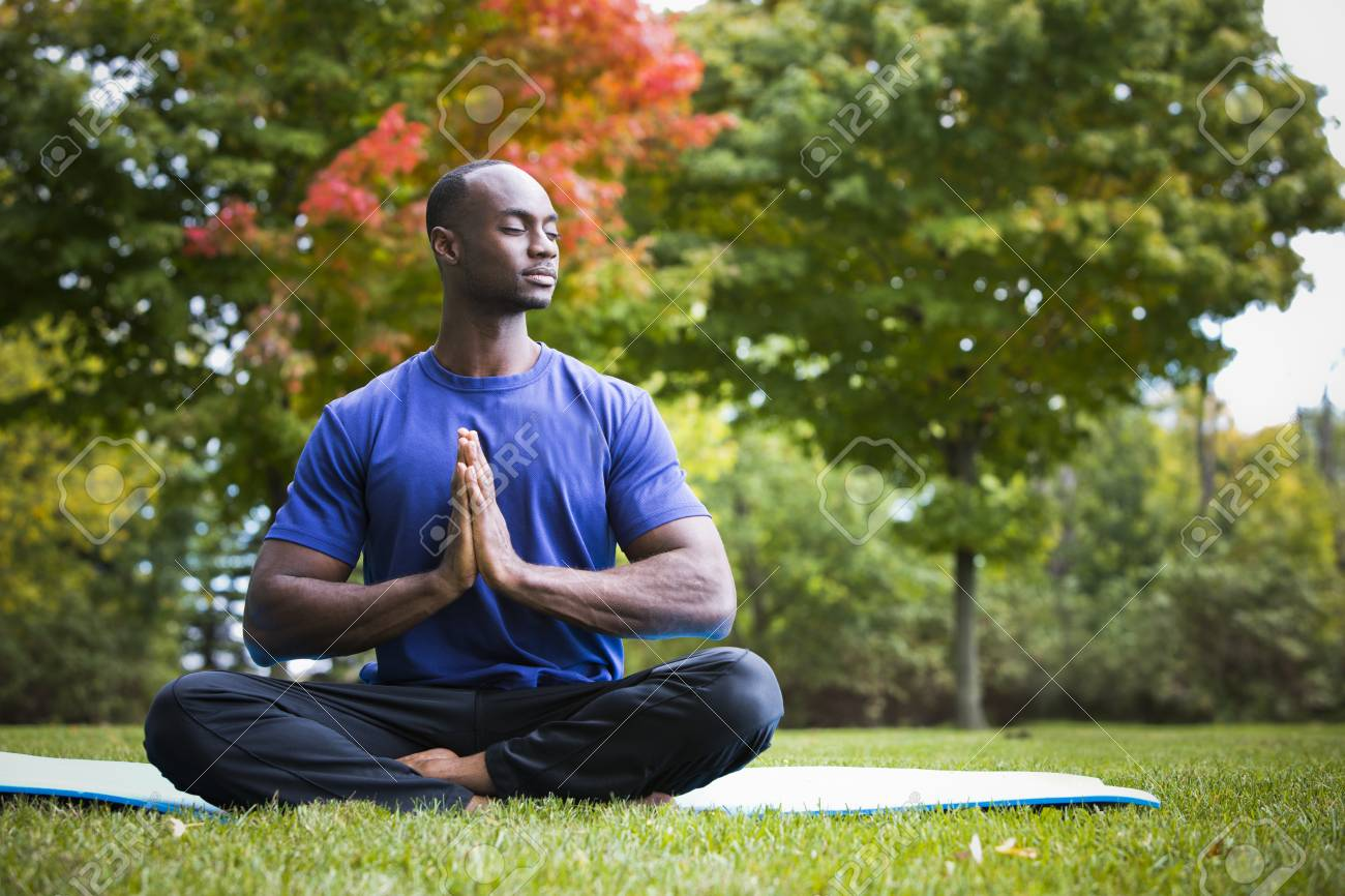 Image result for stock image of young black man exercising