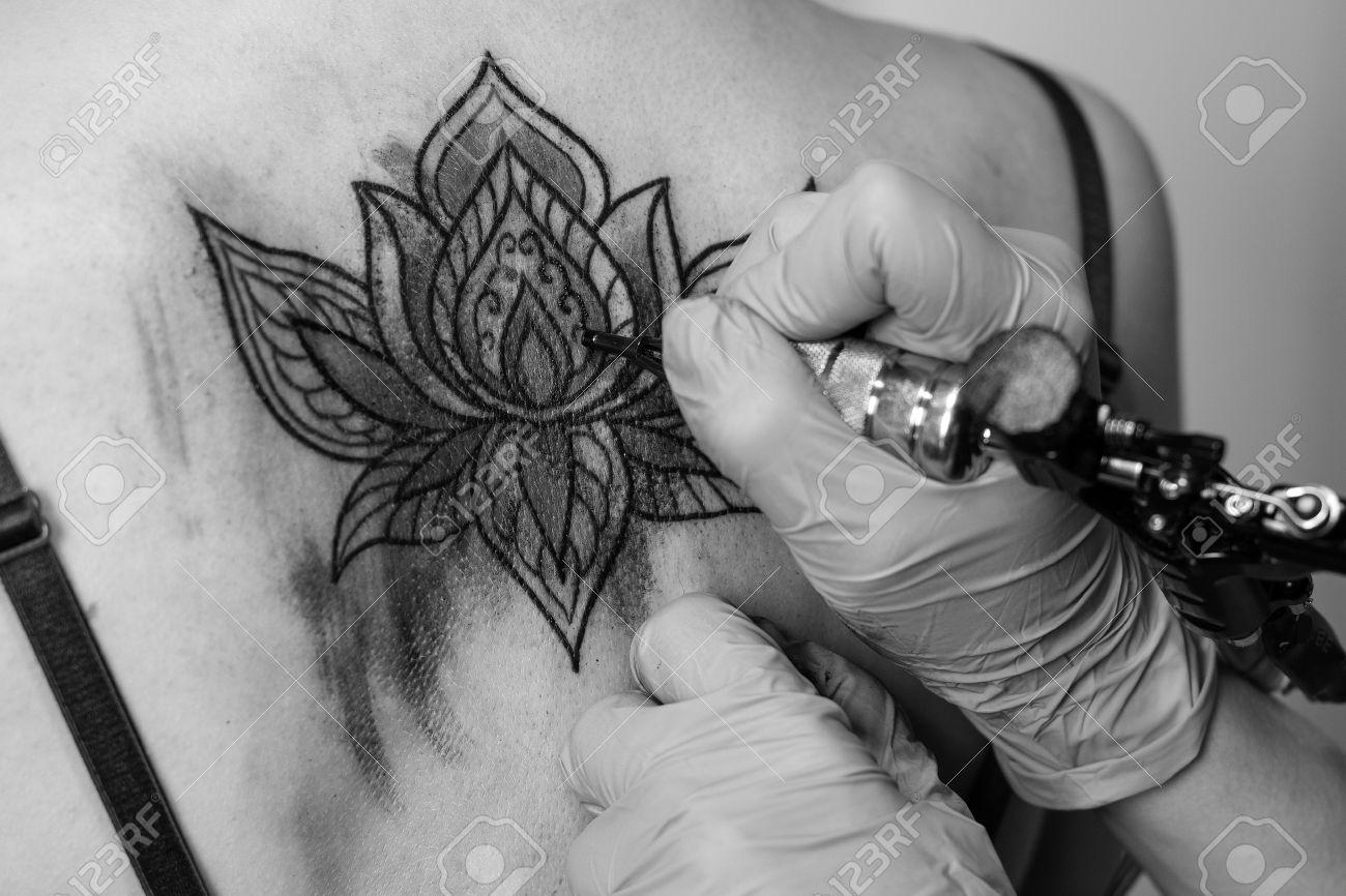 Préférence Dessin Fleur De Lotus Tatouage - Galerie Tatouage VF08