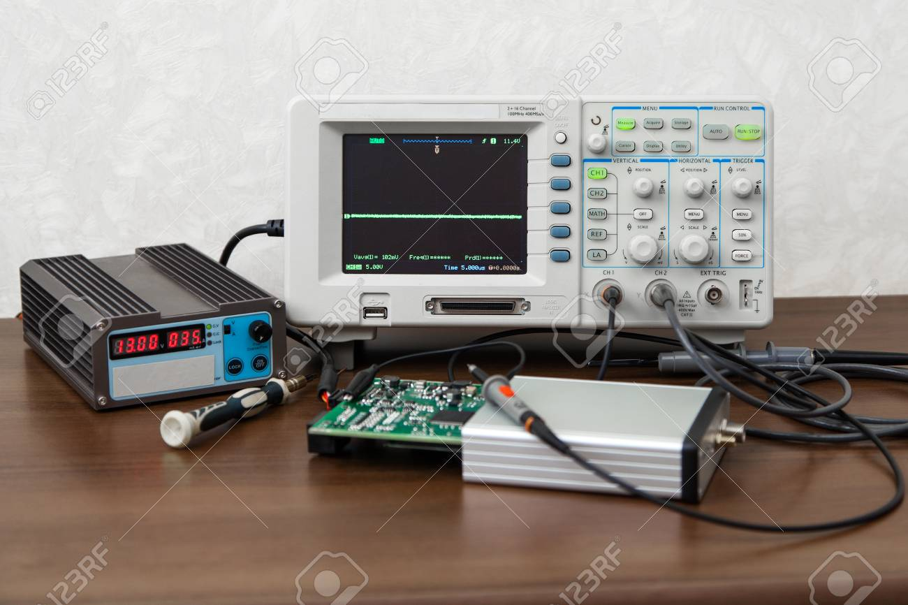 The oscilloscope for the measurement and control electronic signals
